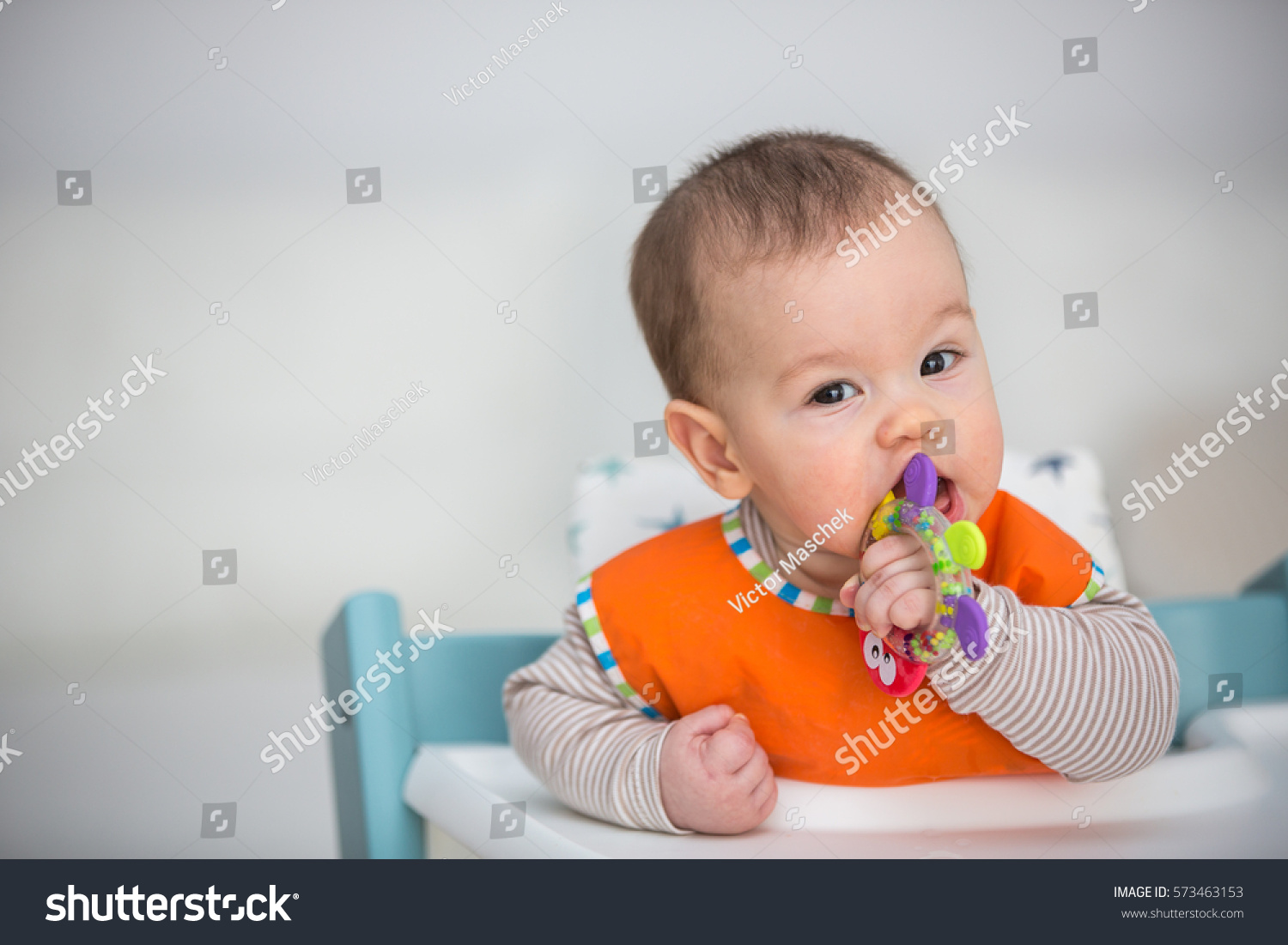 6 Month Old Baby Toys Baby Chewing Toy 6 Months Old Stock Photo 573463153
