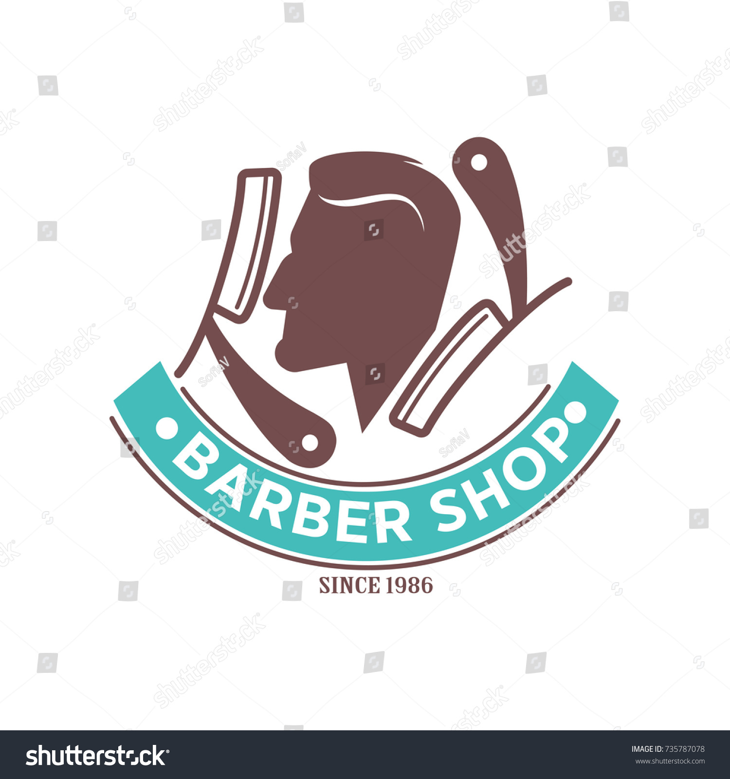 Logo Salon De Coiffure Royalty Free Stock Illustration Of Barber Shop Logo Icon Man Head