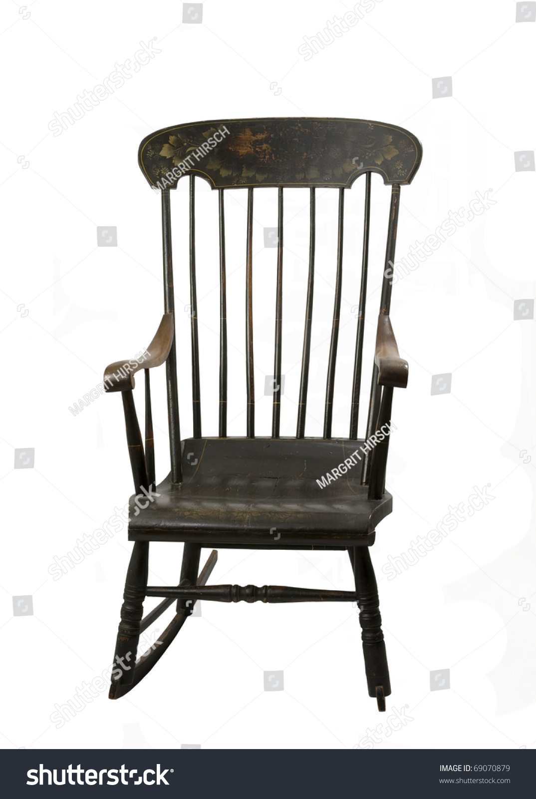 Beautiful Rocking Chairs Beautiful Antique Rocking Chair On White Stock Photo