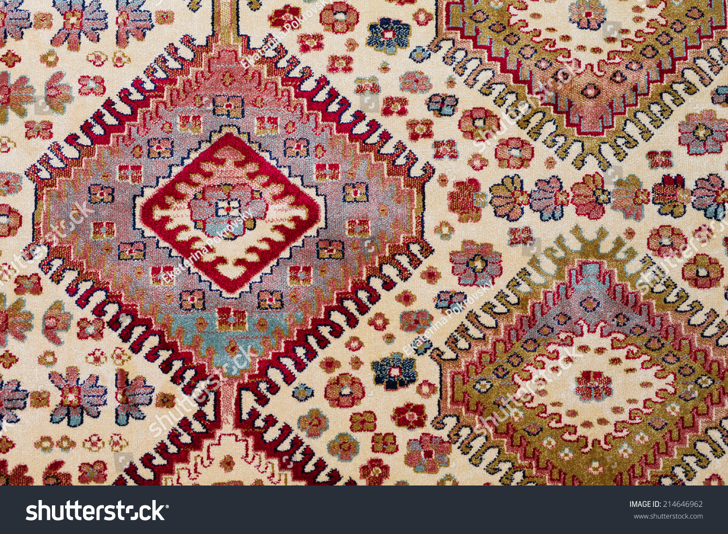 Arabische Teppiche Beautiful Arab Carpet Decoration Pattern Stock Photo