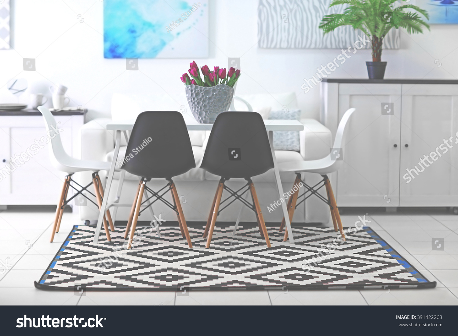 Beautiful Table And Chairs Beautiful Comfortable Modern Interior Table Chairs Stock