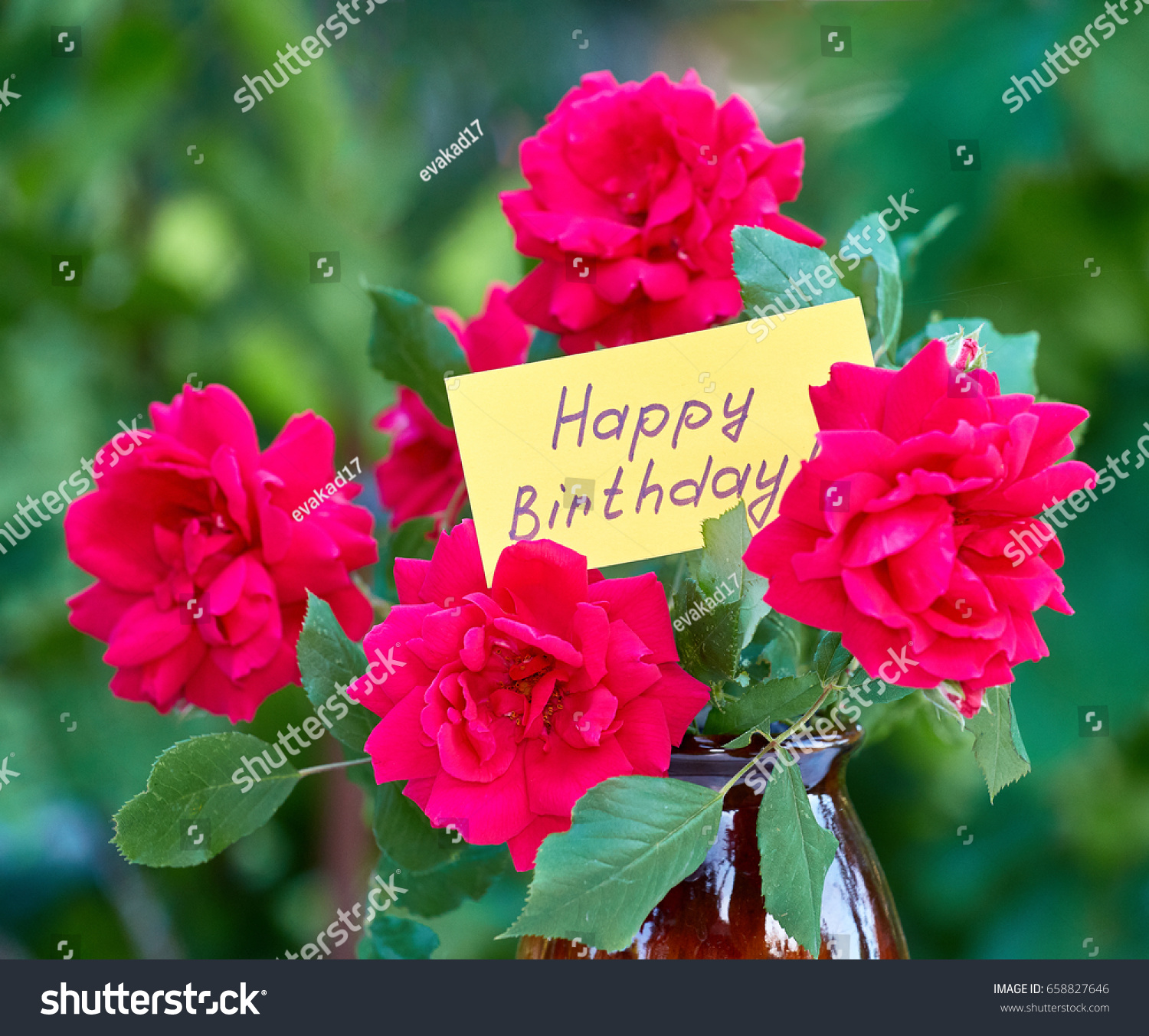 Beautiful Pictures Of Flowers Beautiful Flowers Card Happy Birthday Stock Photo Edit Now