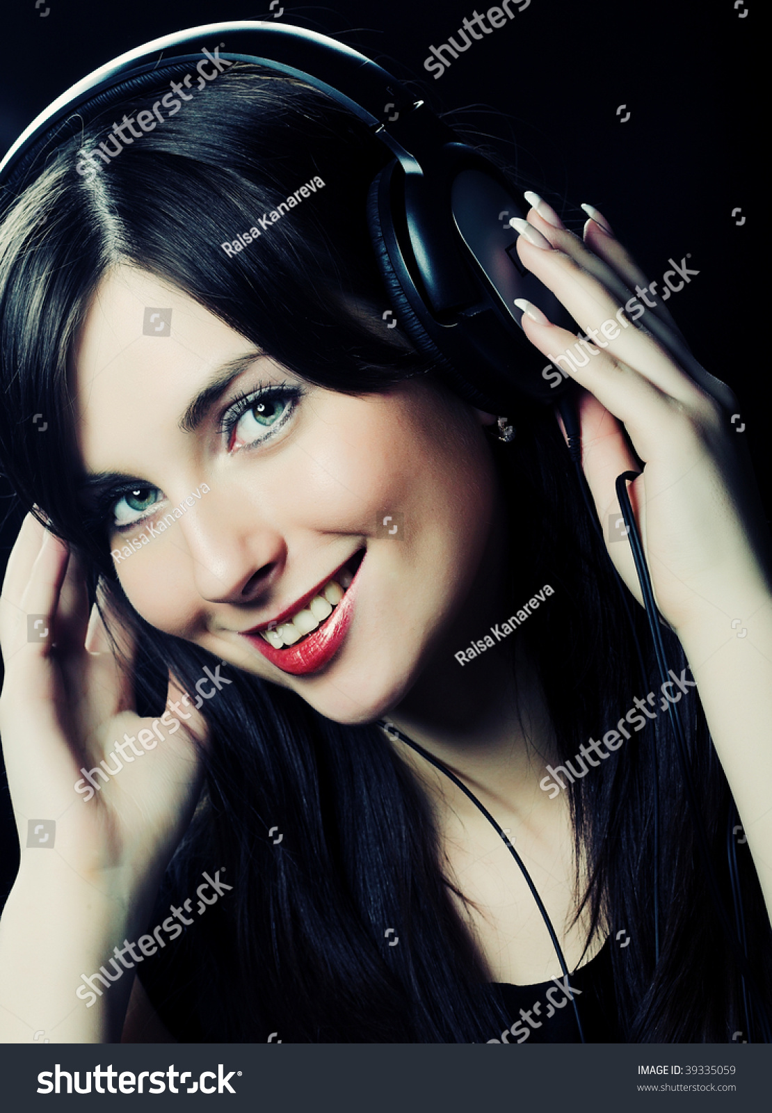 Beautiful Headphones Beautiful Headphones Girl Stock Photo 39335059 Shutterstock