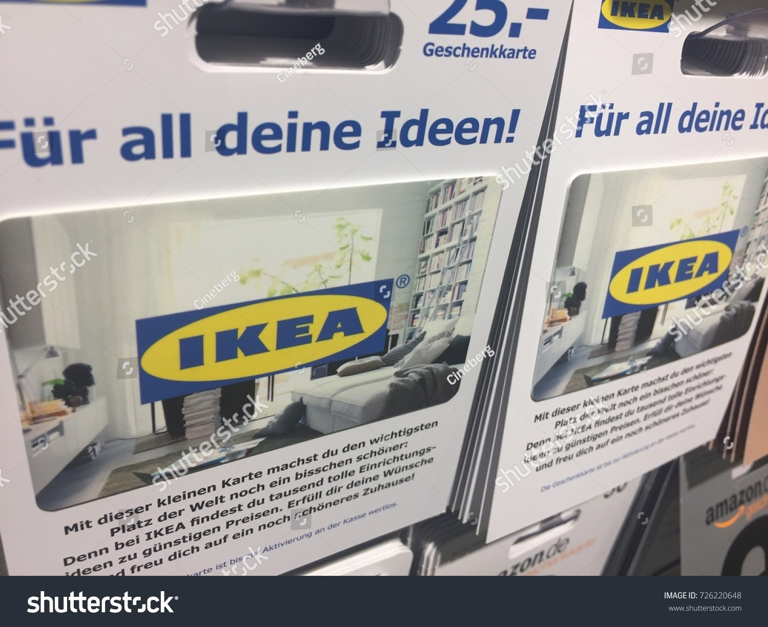Geschenkkarten Ideen Berlin Germany August 22 2017 Ikea Stock Photo Edit Now