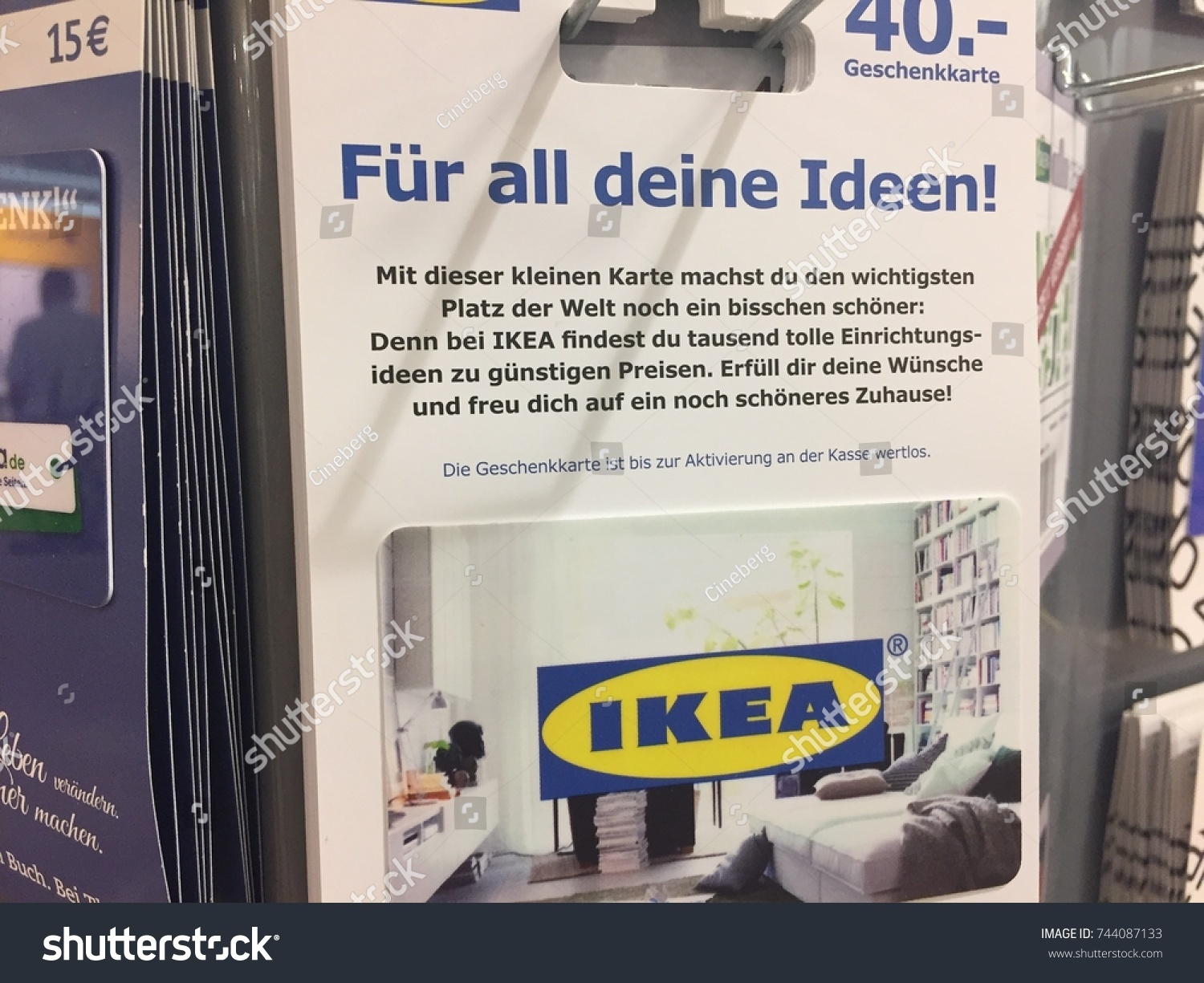 Geschenkkarten Ideen Berlin Germany July 10 2017 Ikea Stock Photo Edit Now 744087133