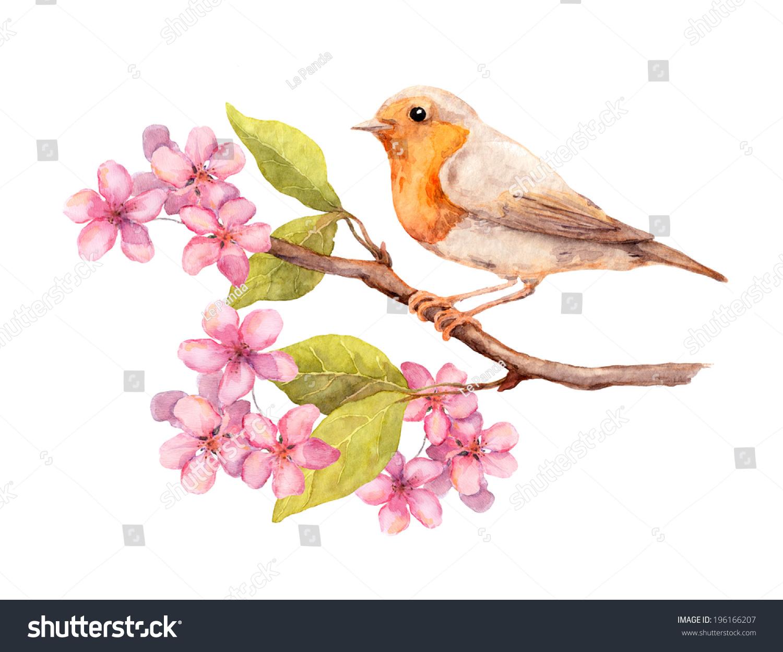 Bird And Flower Art
