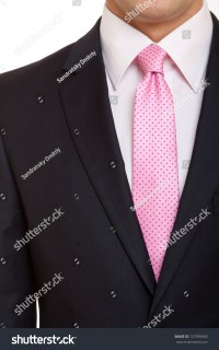 Black Suit With Pink Tie Stock Photo 127395683 : Shutterstock