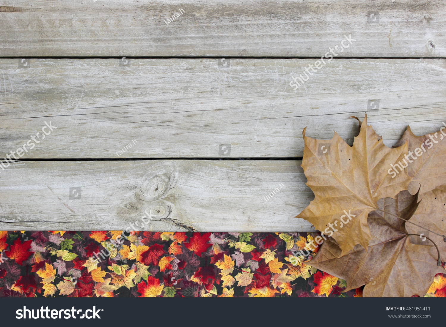 Blank Rustic Wooden Sign Fall Decor Stock Photo Edit Now 481951411