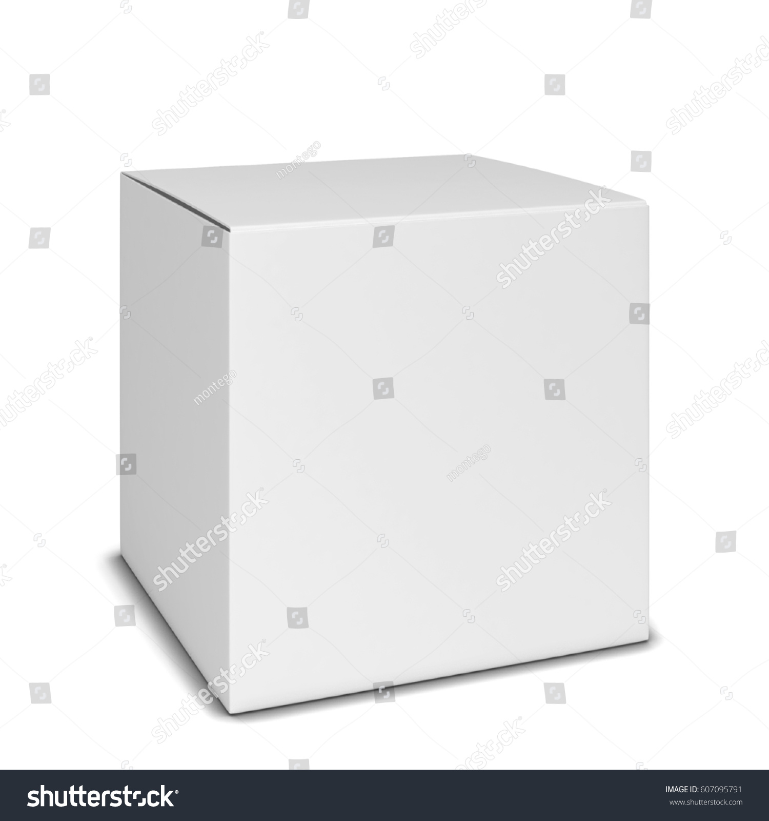 Square Box Blank Square Box 3 D Illustration Isolated Stockillustration