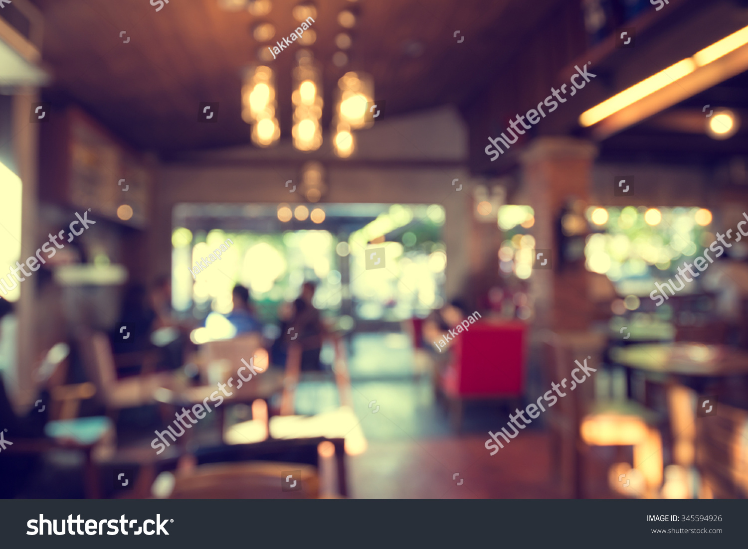Image Café Blurred Cafe Background Coffee Shop Blur Stock Photo