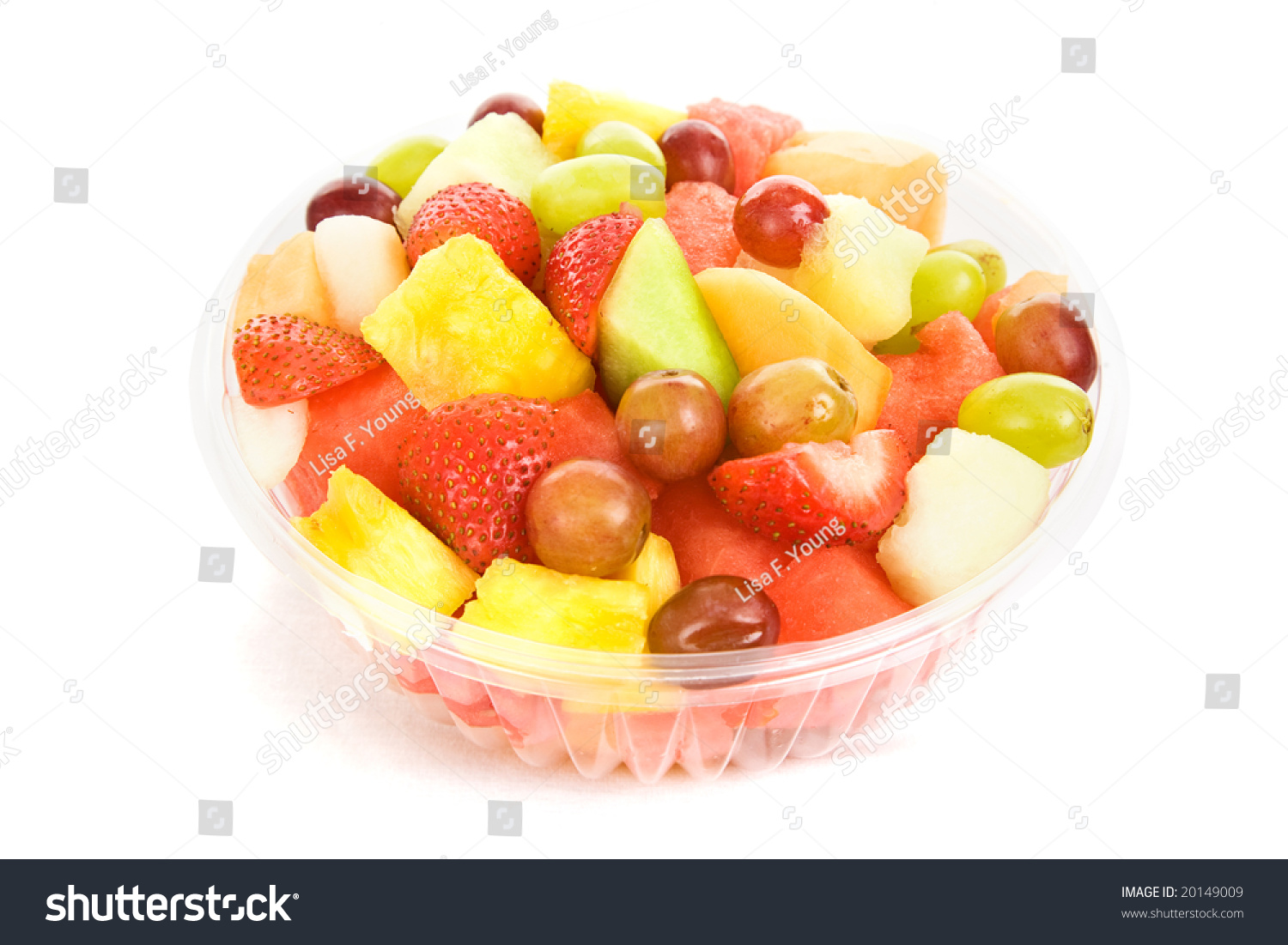 Colorful Fruit Bowl Bowl Of Colorful Delicious Fruit Salad Isolated On White