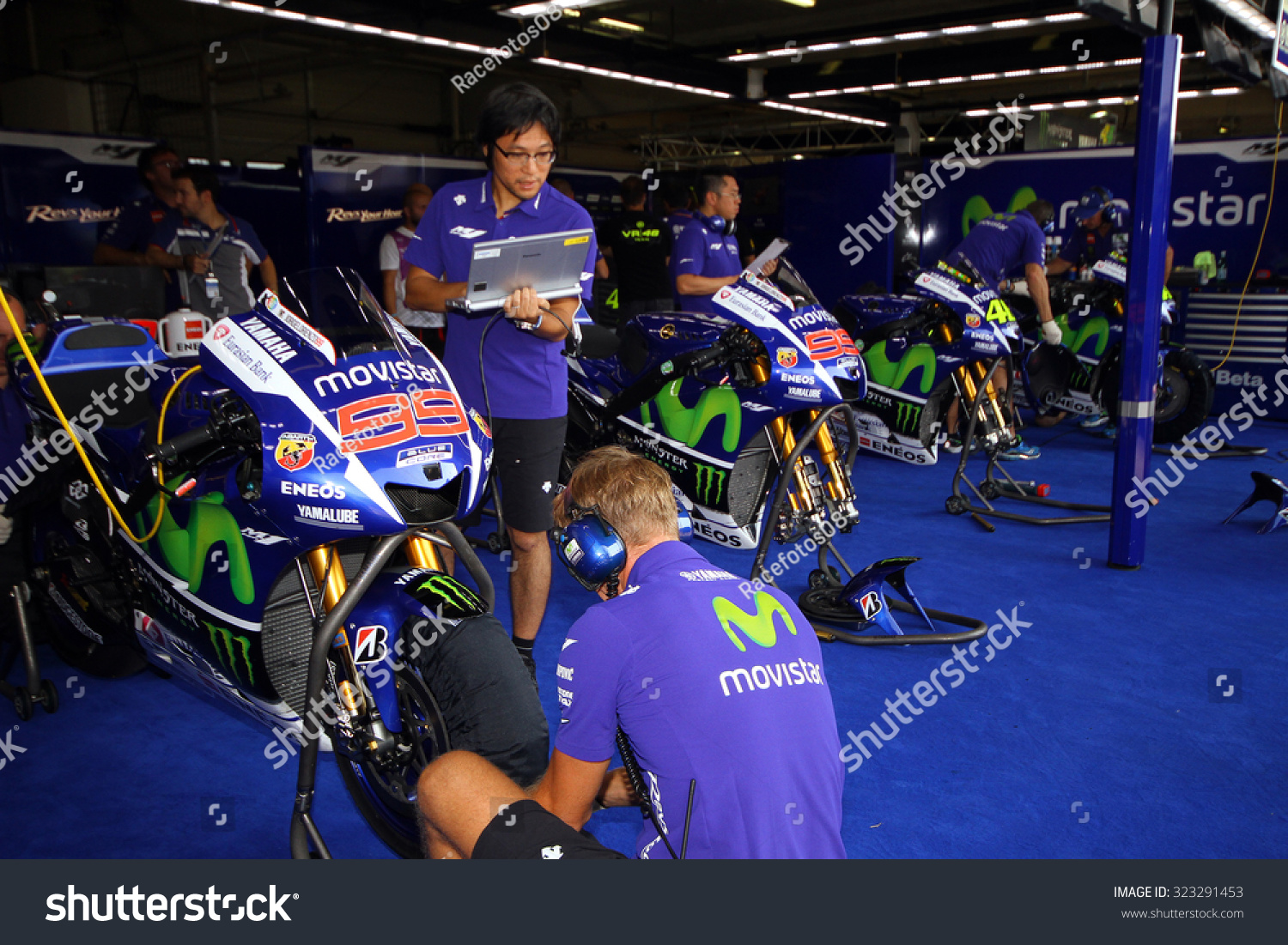 Garage Yamaha Brno Czech Republic August 14 Yamaha Stock Photo Edit Now