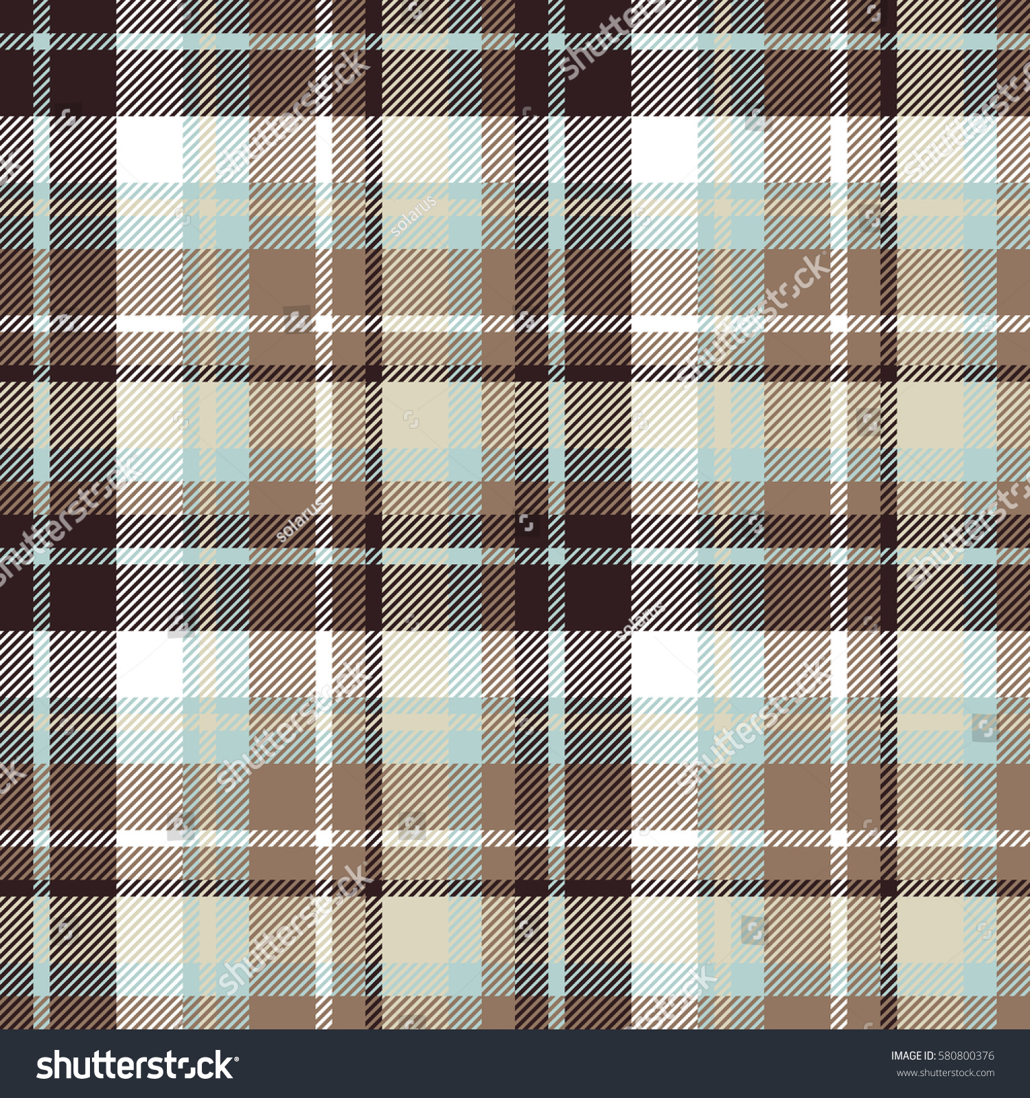 Brown Seamless Fabric Textures Brown Blue Seamless Check Fabric Texture Stock Illustration