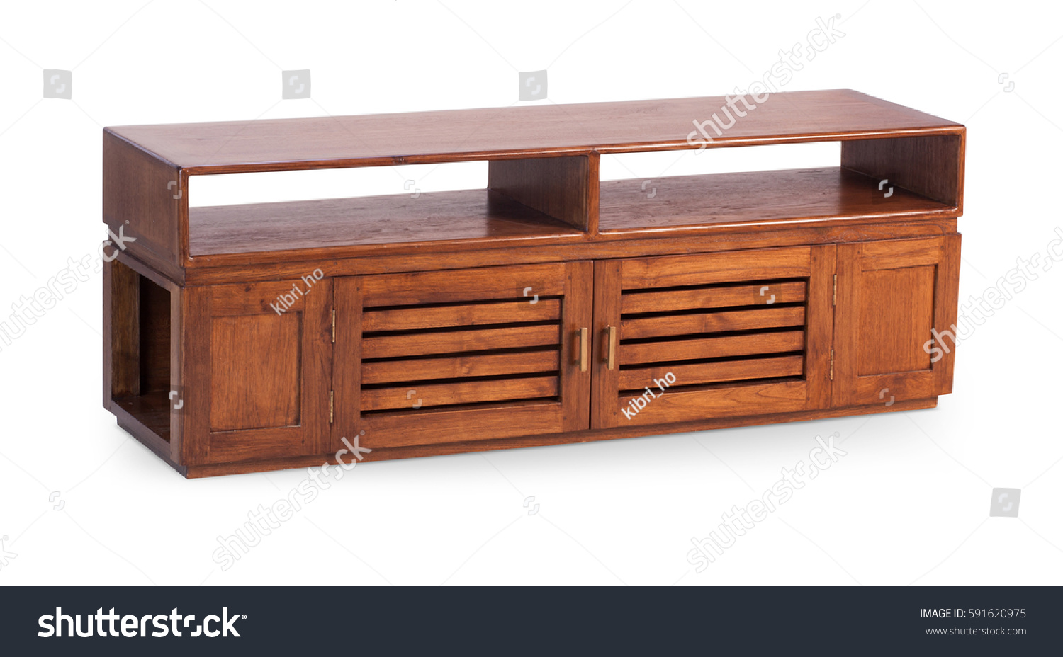 Bureau Designer Brown Wooden Tv Stand Bureau Commode Stock Photo Edit Now