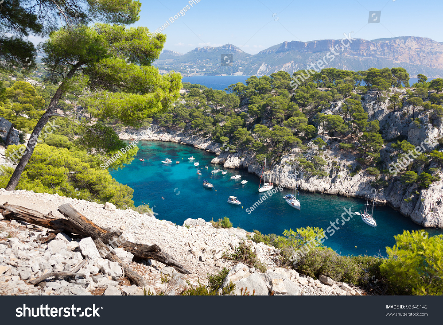 Location Canoe Cassis Calanques Port Pin Cassis France Stock Photo Edit Now 92349142