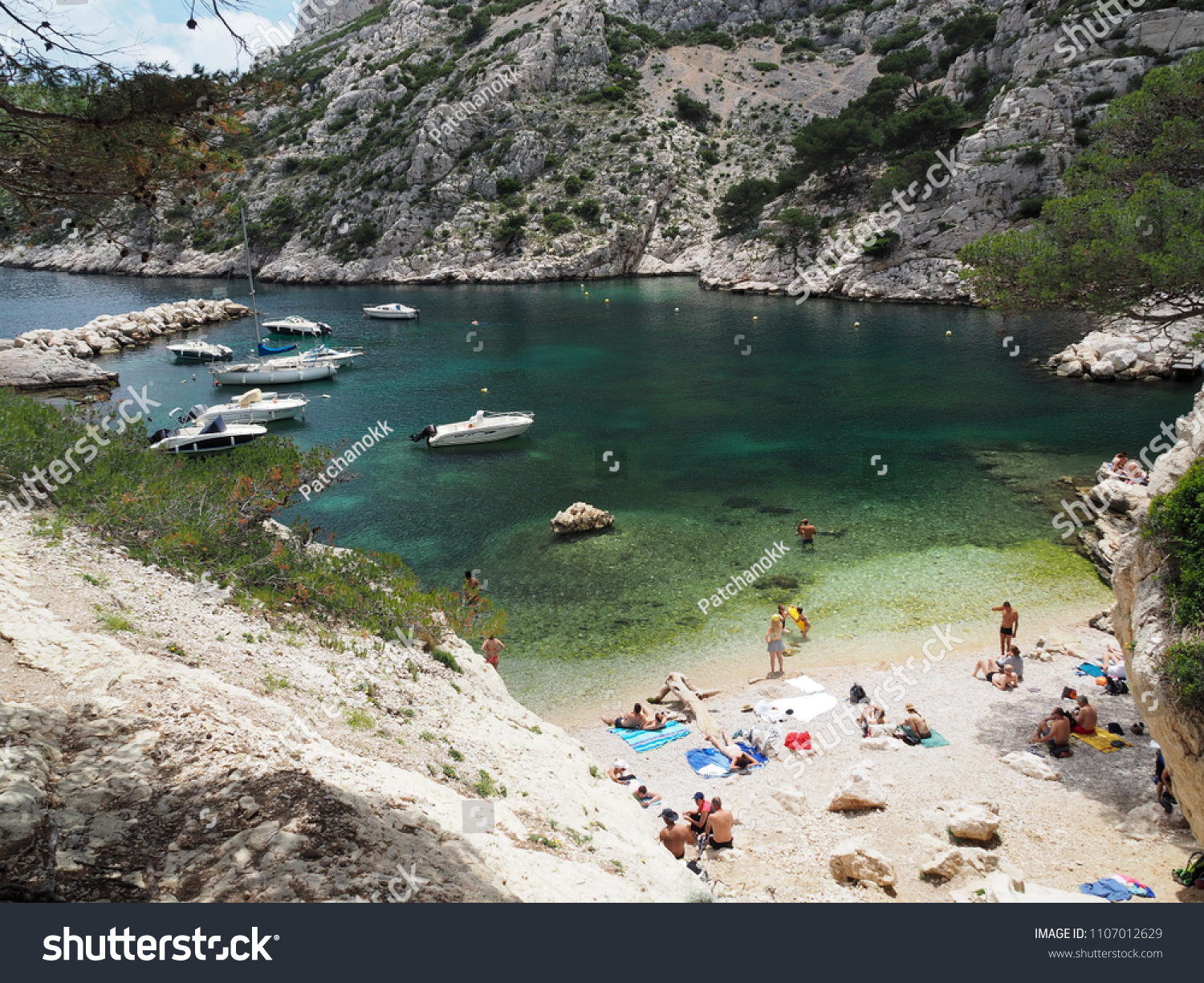 Location Canoe Cassis Cassis France June 2 2018 Tourists Stock Photo Edit Now