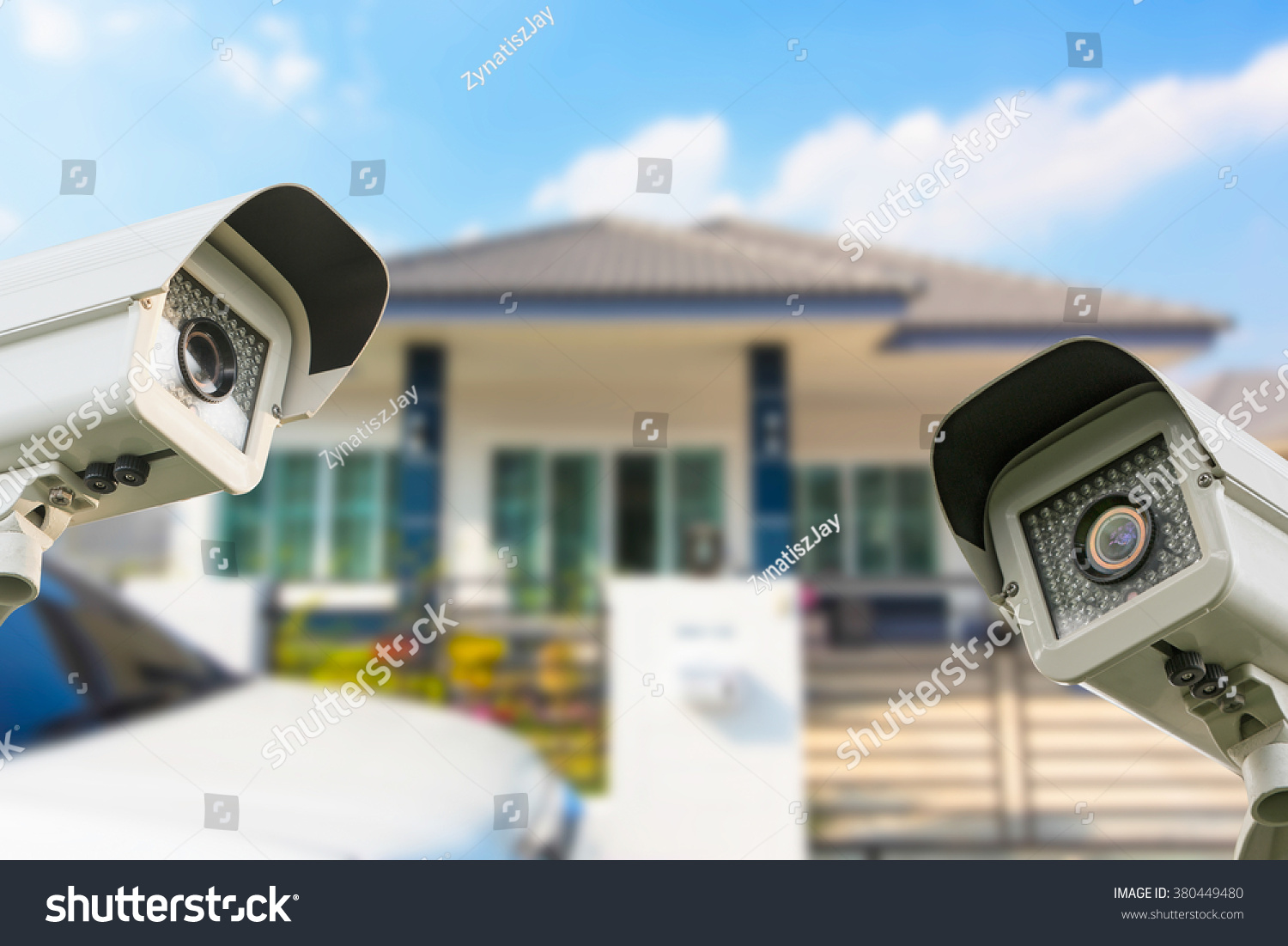 Cctv Home Cctv Home Camera Security Operating House Stock Photo Edit Now