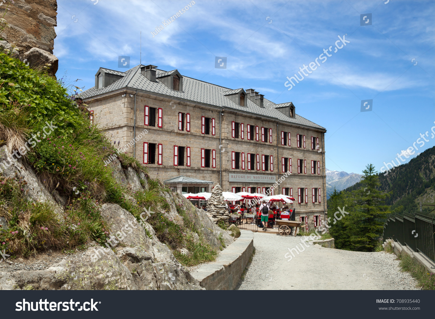 Hotel Montenvers Chamonix France Jul 06 2017 Restaurant Stock Photo Edit Now