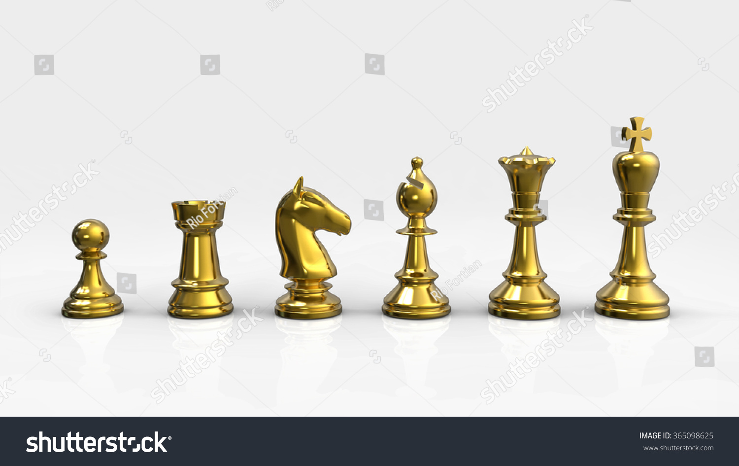 Gold Chess Pieces Chess Pieces Gold Stock Illustration Royalty Free Stock