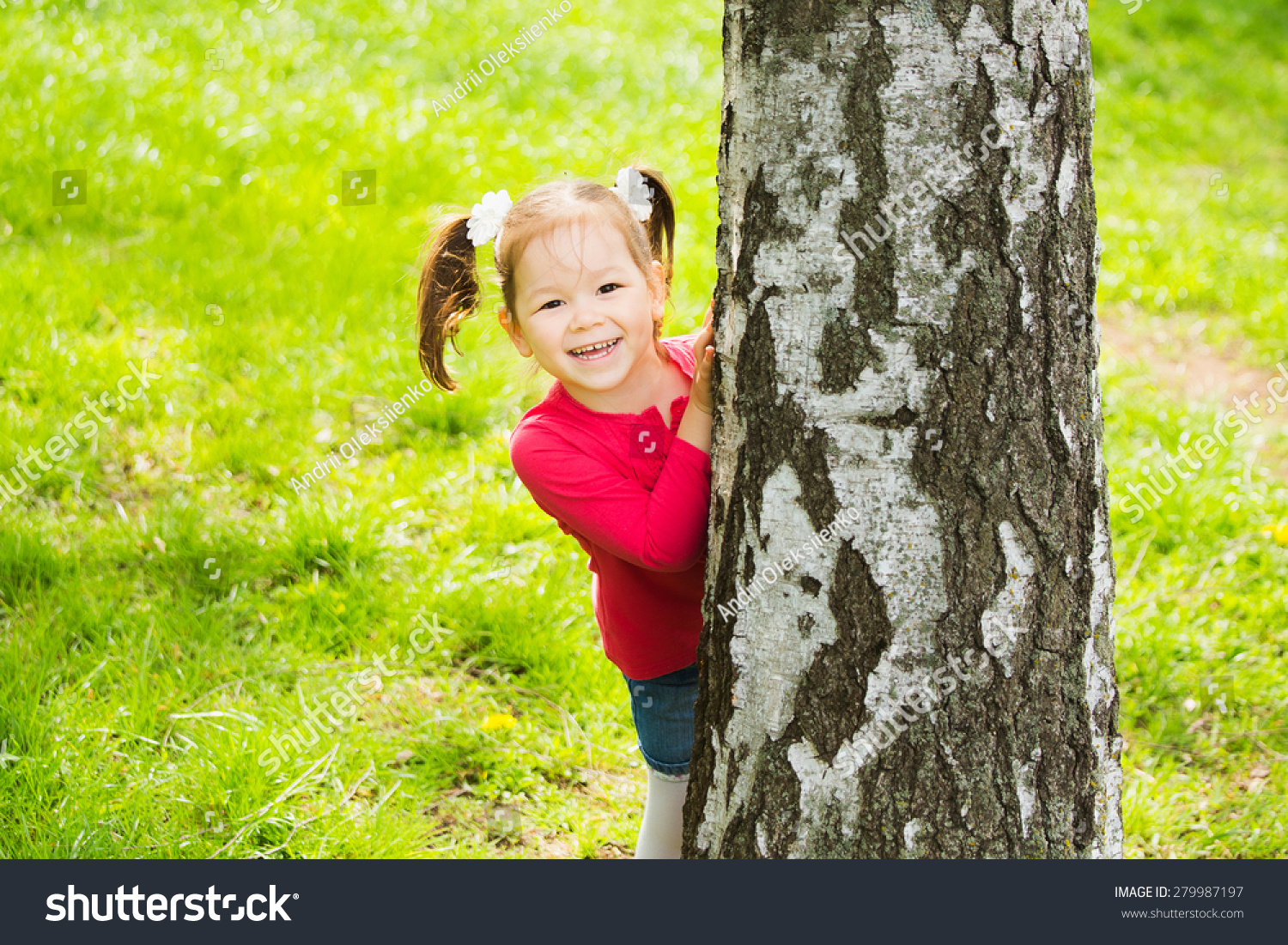 Hide And Seek Kids Child Playing Hide Seek Cute Little Stock Photo Edit Now