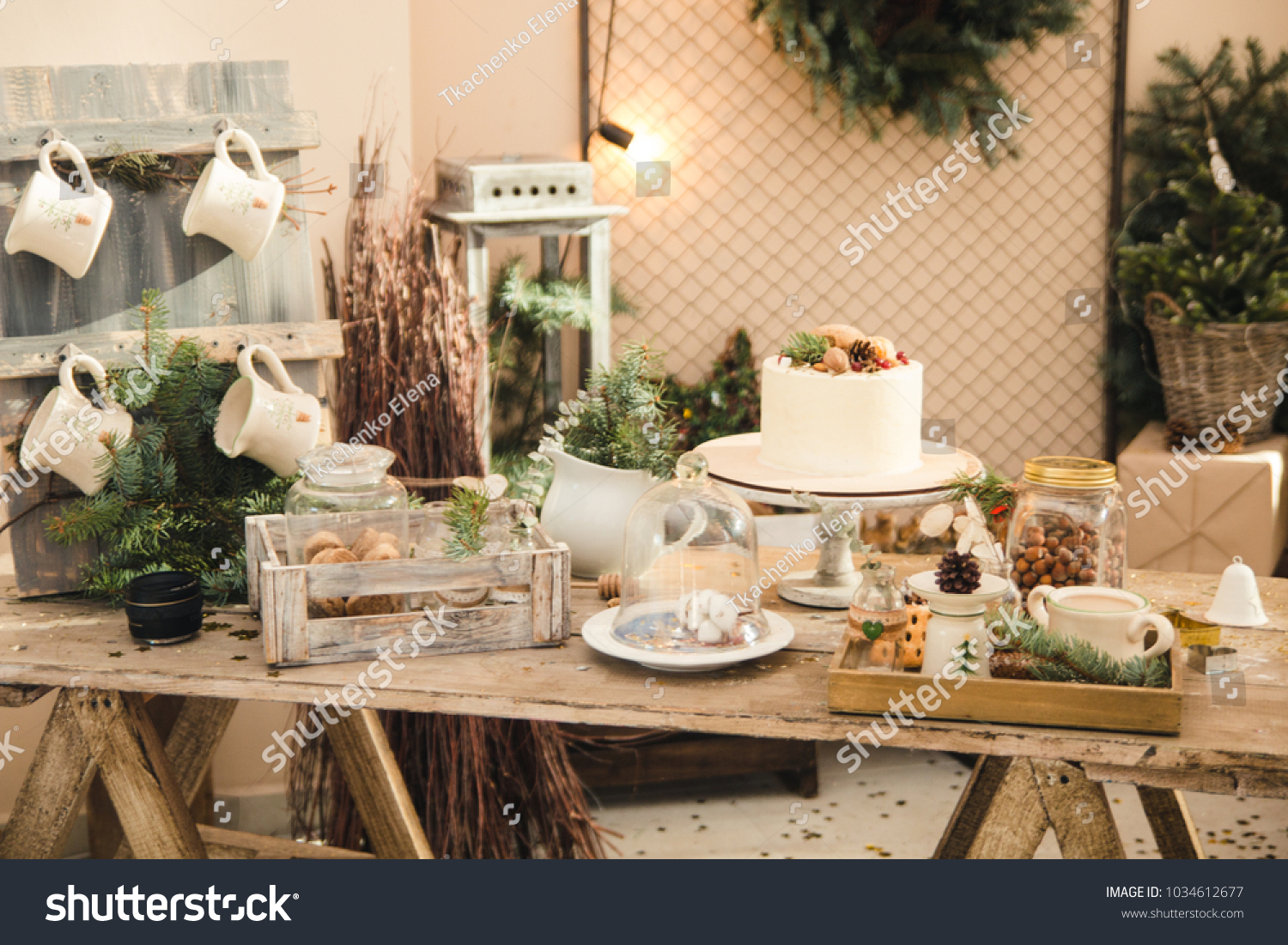 Cuisine Cosy Christmas Cosy Home Stock Photo Edit Now 1034612677 Shutterstock