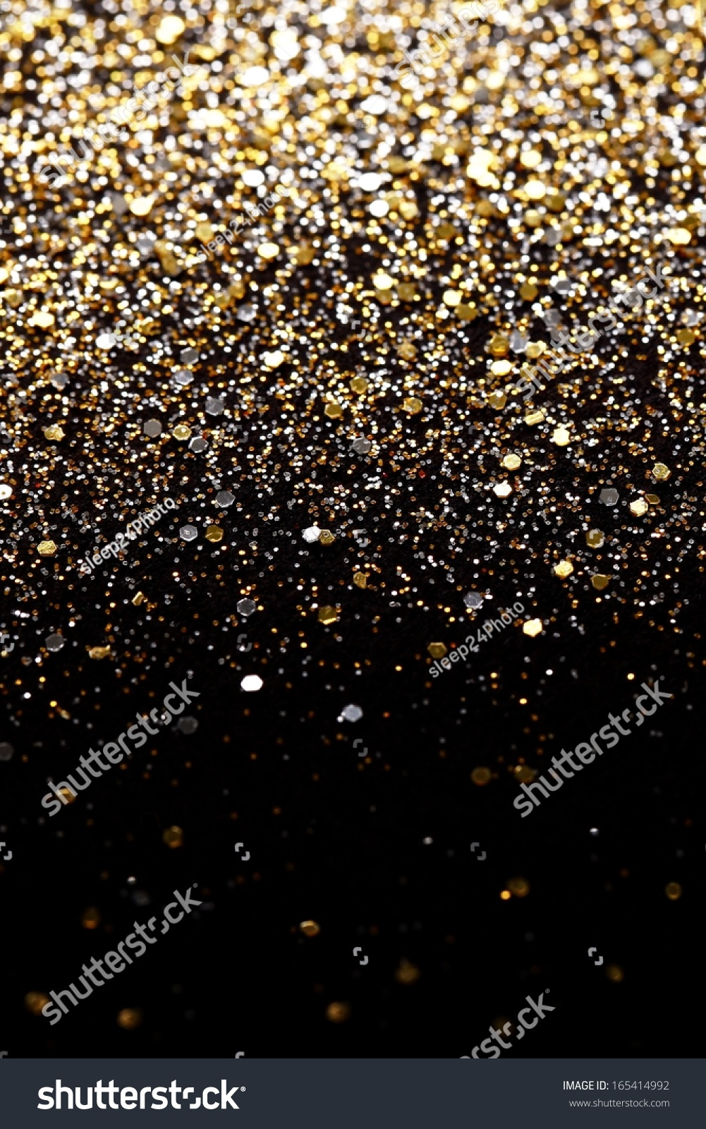 Falling Glitter Confetti Wallpapers Christmas Gold Silver Glitter Background Holiday Stock