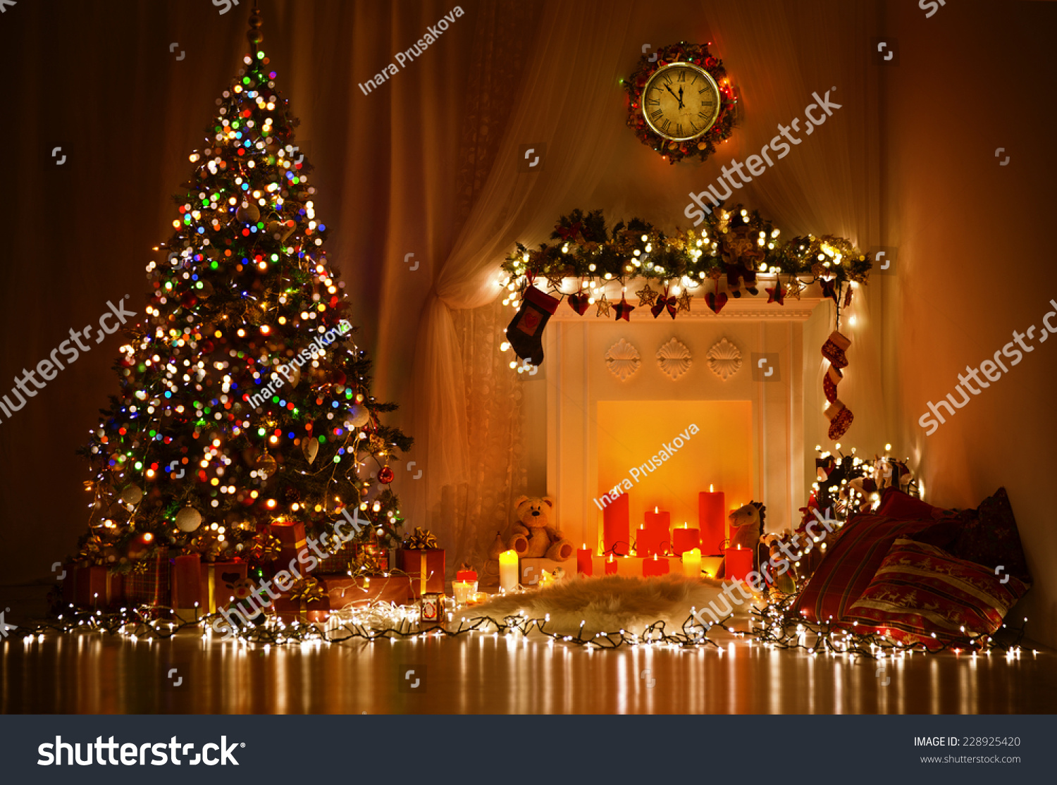 Christmas Interior Design Christmas Room Interior Design Xmas Tree Decorated By