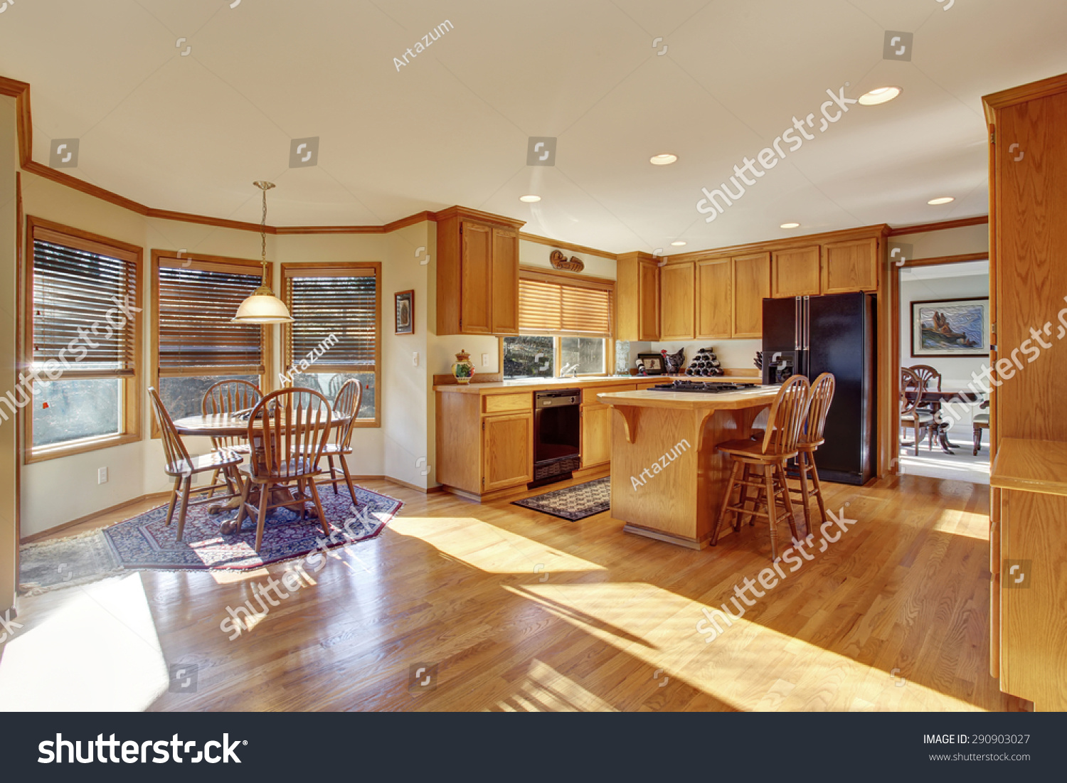 Classic Kitchen Lighting Classic Kitchen With Hardwood Floor Great Lighting And An Island