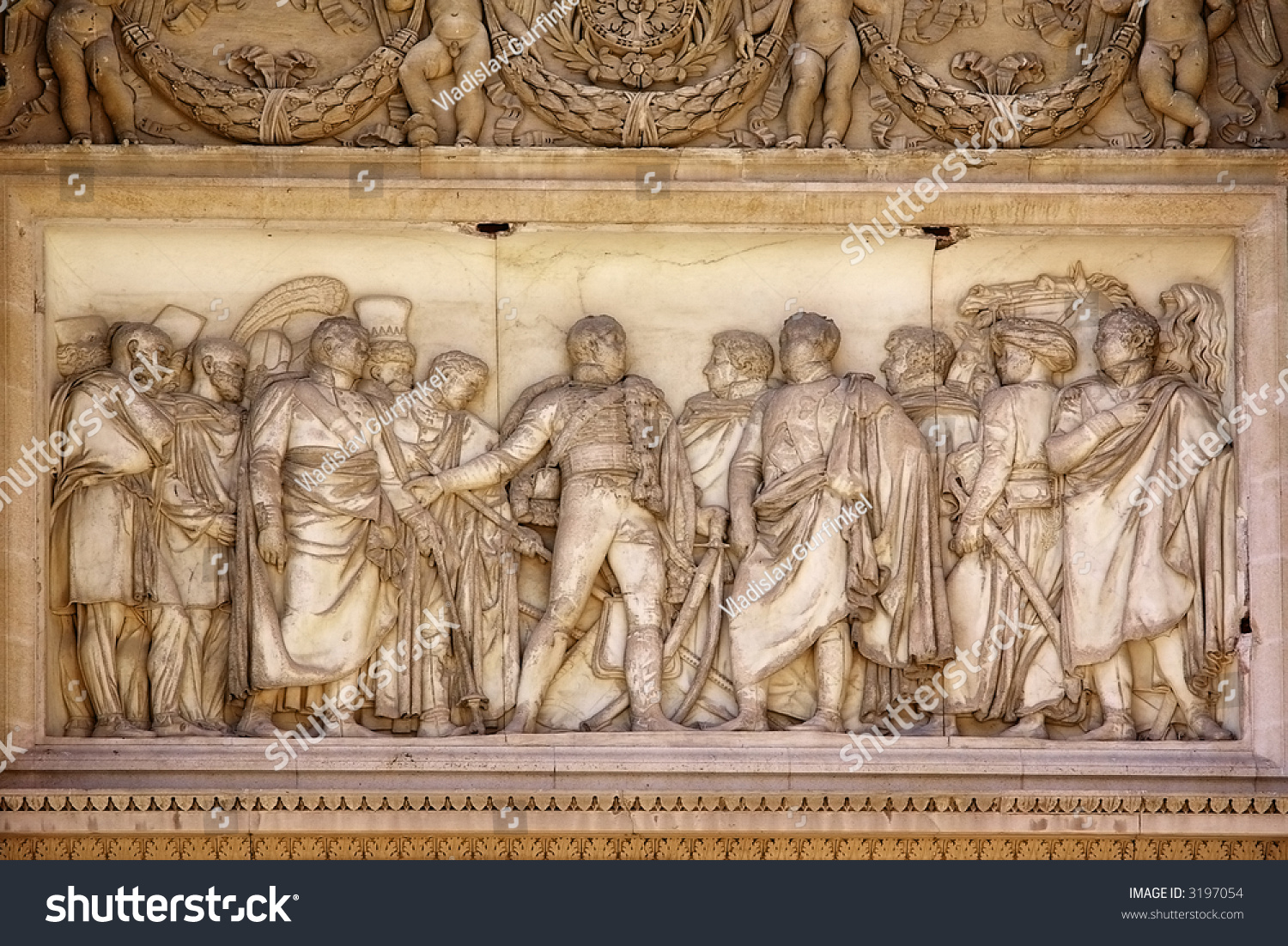 Paris Bourges Bus Classical Marble Busrelief Paris Stock Photo Edit Now 3197054