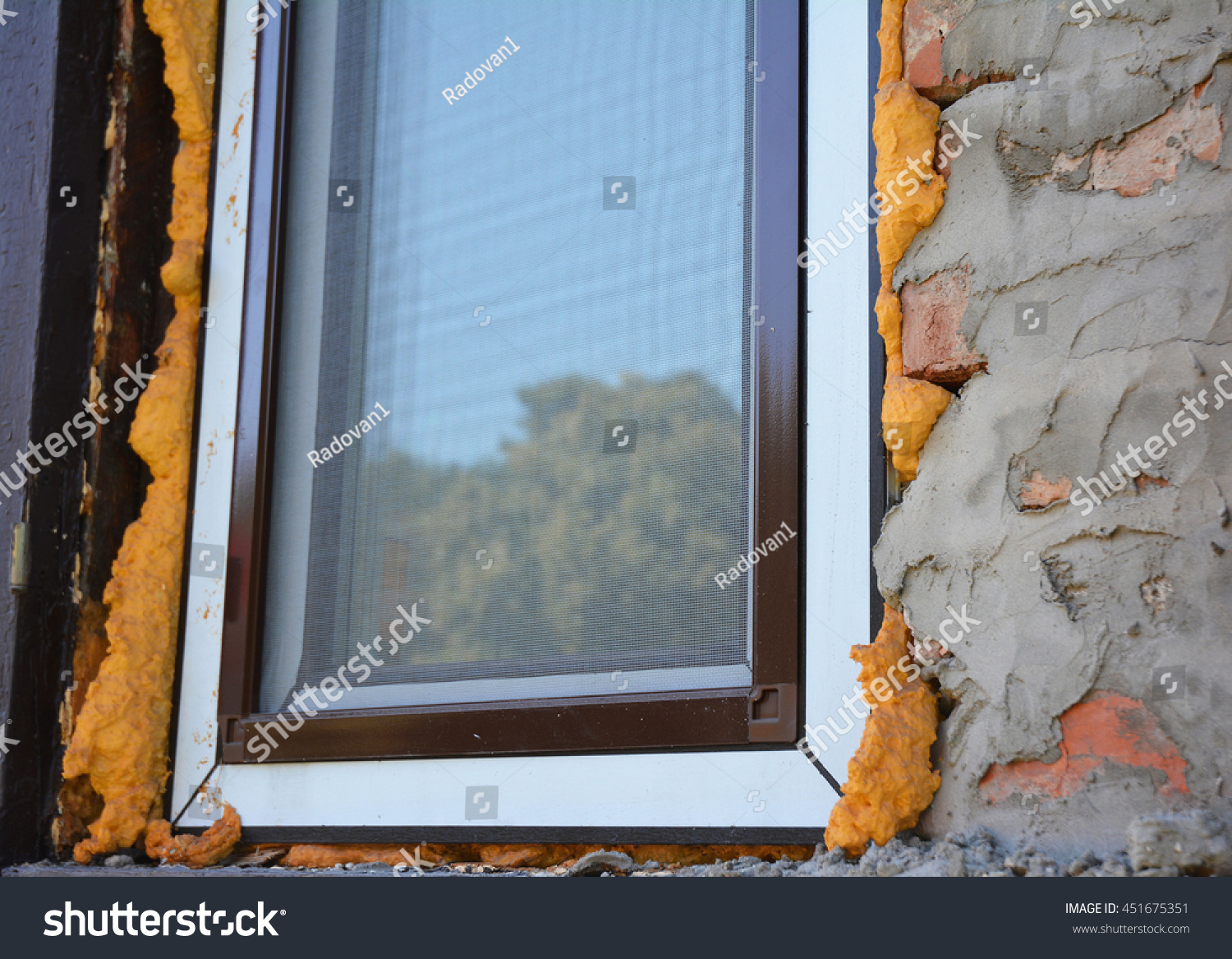 How To Insulate Windows Close On Window Insulation Foam You Stock Photo Edit Now