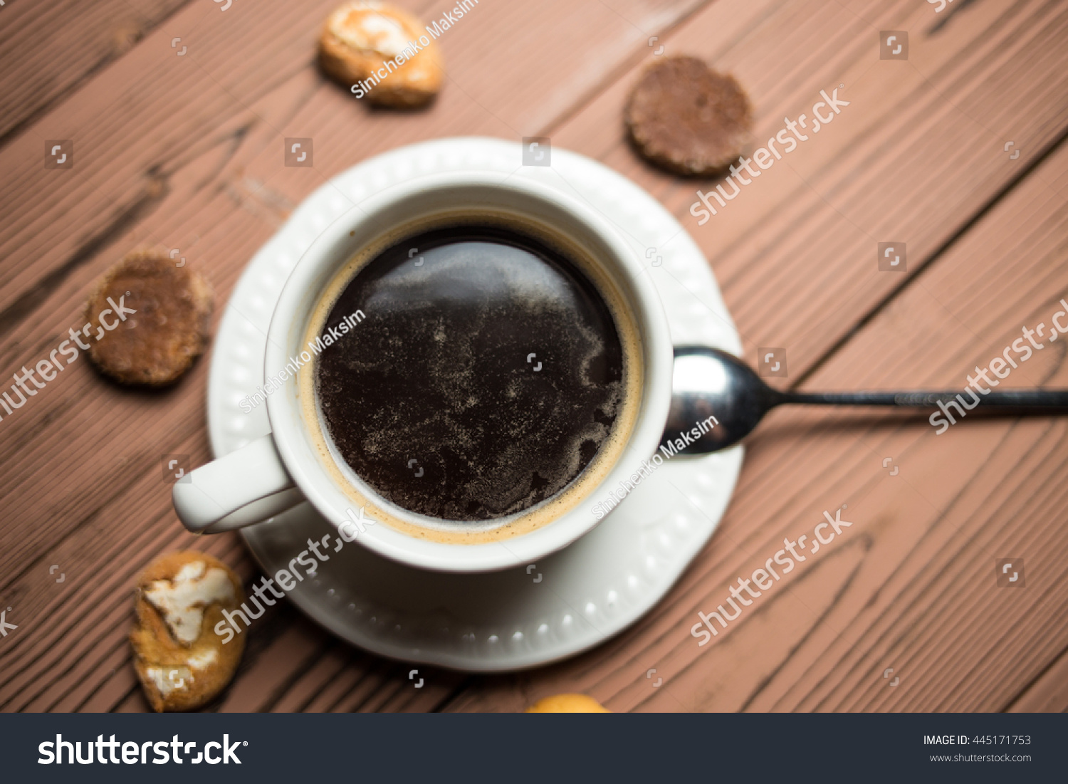 Americano Coffee English Coffee Americano Coffee Beans Stock Photo 445171753
