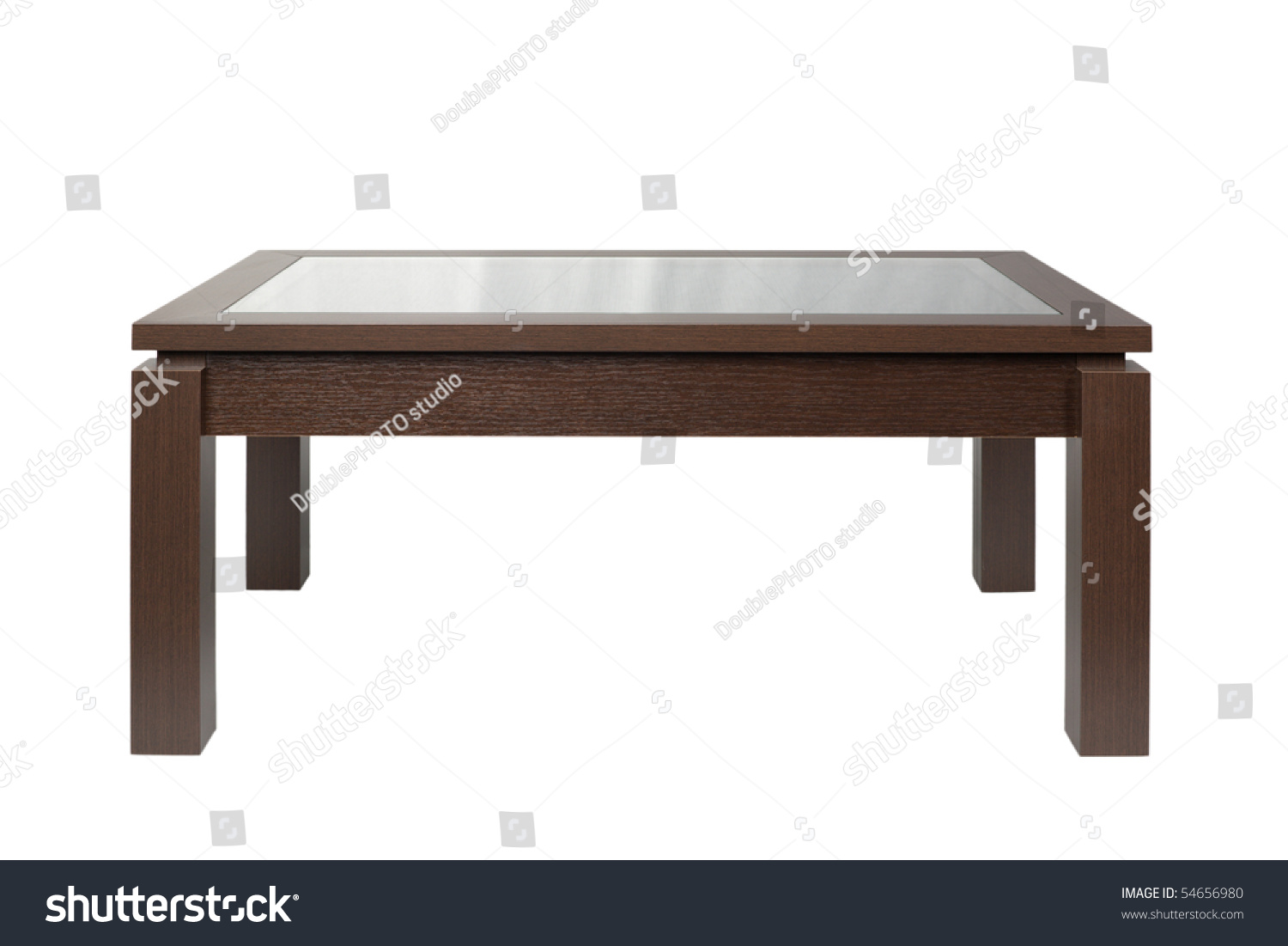 Dark Wood And White Coffee Table Coffee Table Dark Wood Isolated On Stock Photo 54656980