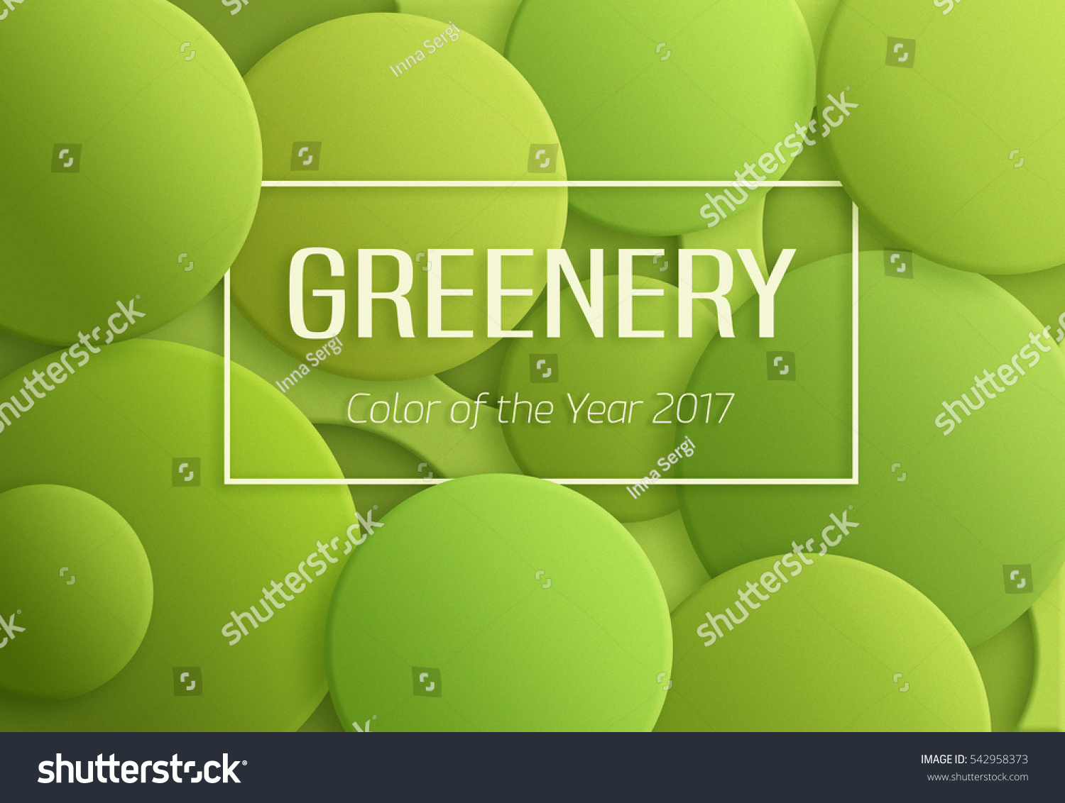 Greenery Pantone Color Year 2017 Greenery Pantone Abstract Stock Illustration