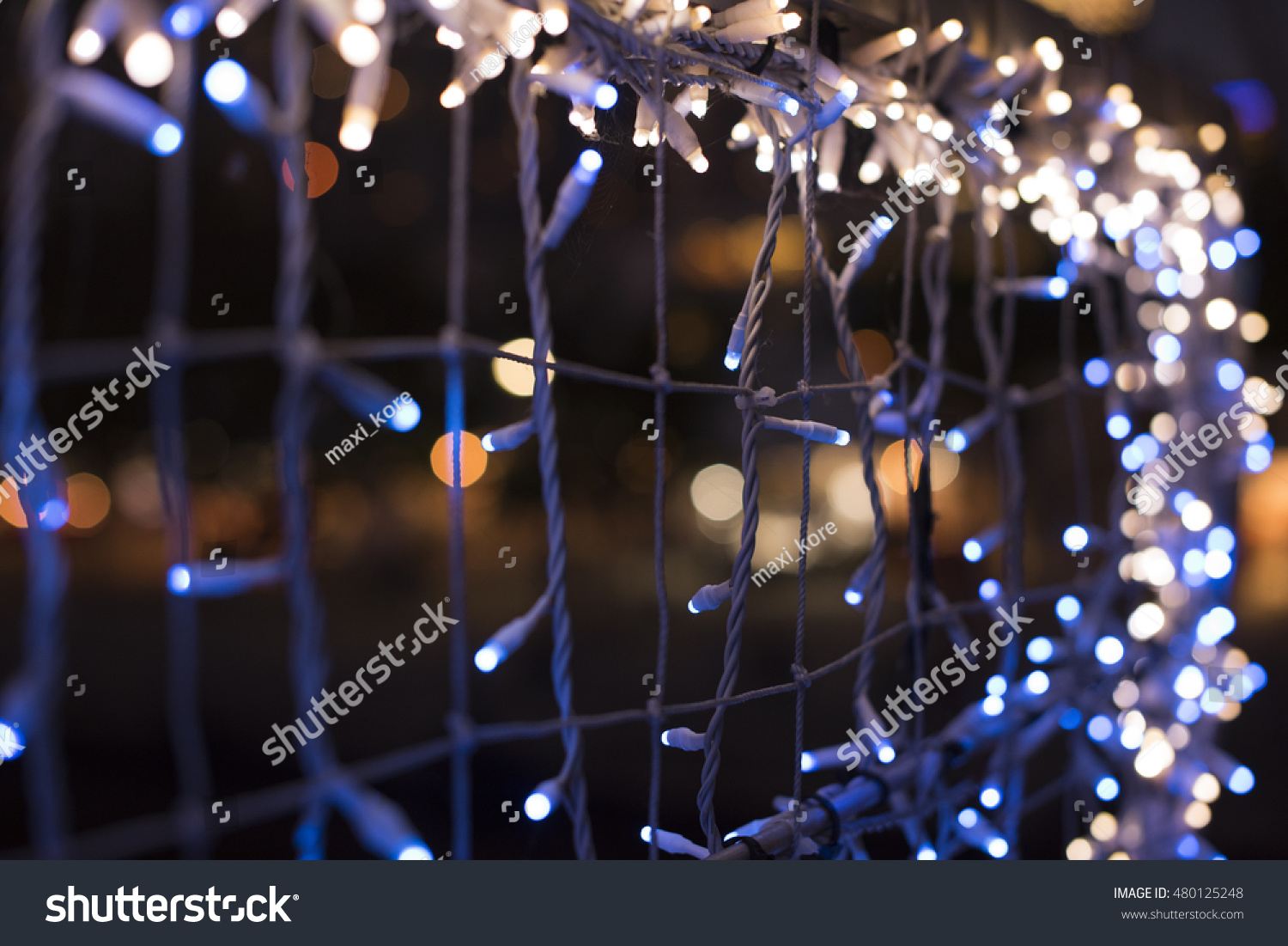 Christmas Led Lights Canada Colorful Background Led Lights Preparation Christmas Stock Photo