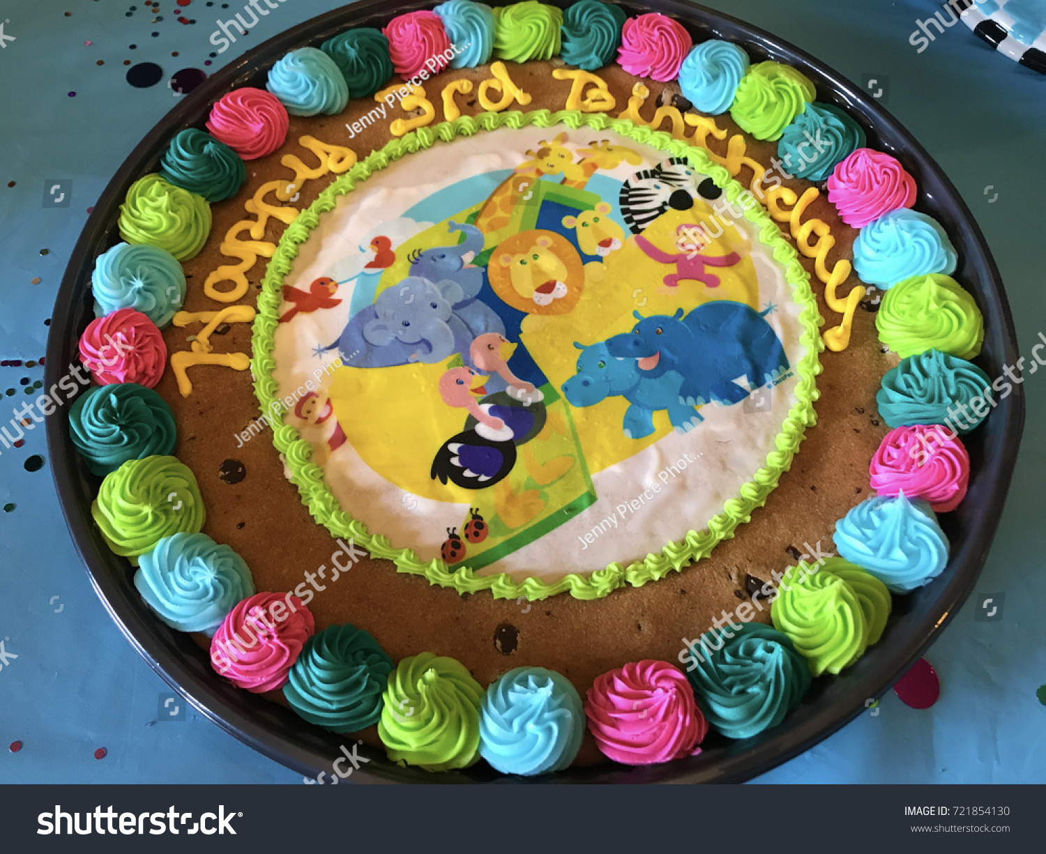 Ark Kuchen Colorful Noahs Ark Cookie Cake Stock Photo Edit Now 721854130