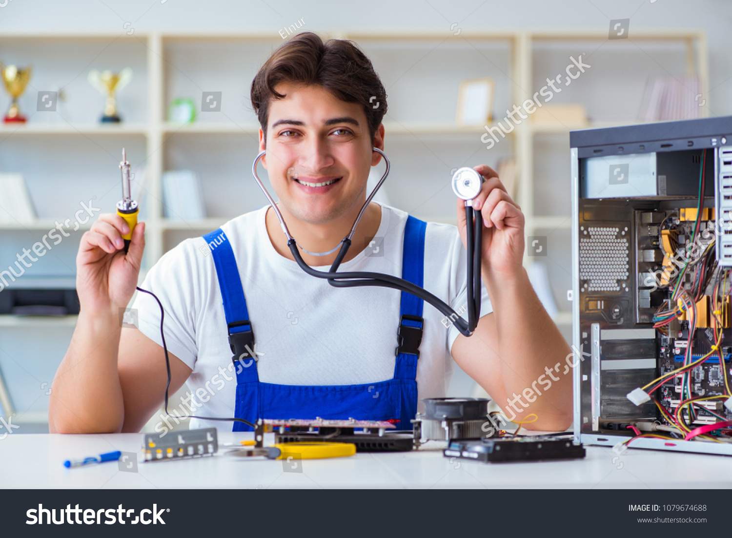 Repair Fixing Computer Hardware Repair Fixing Concept By Stock Photo Edit Now