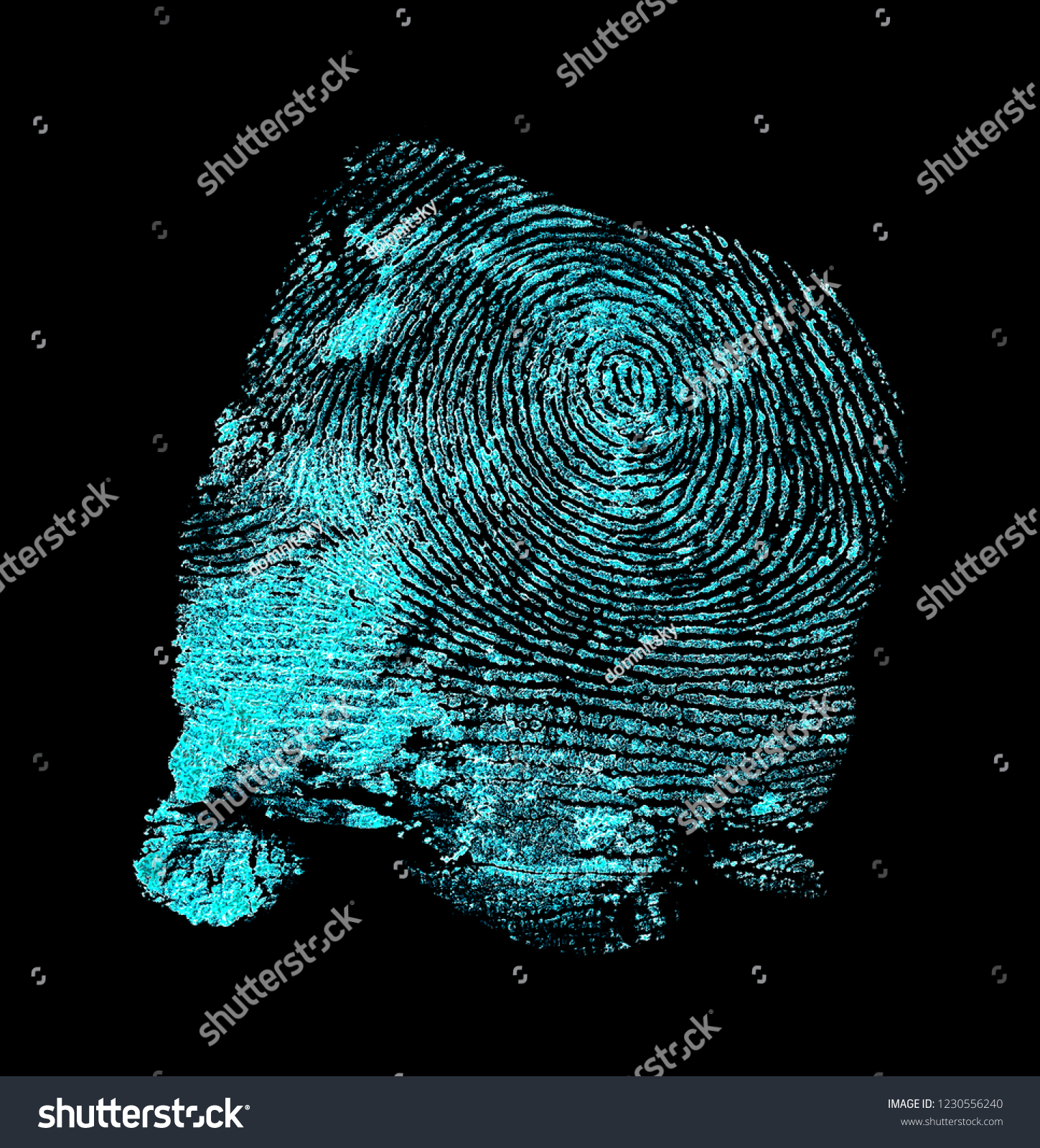 Ultraviolet Lamp Concept Crime Scene Fingerprint Ultraviolet Lamp Stock Photo Edit