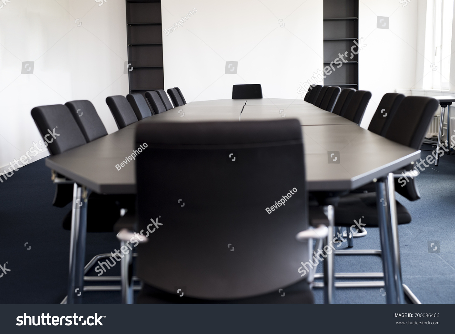 Meeting Room Tables Conference Table Empty Meeting Room Stock Photo Edit Now