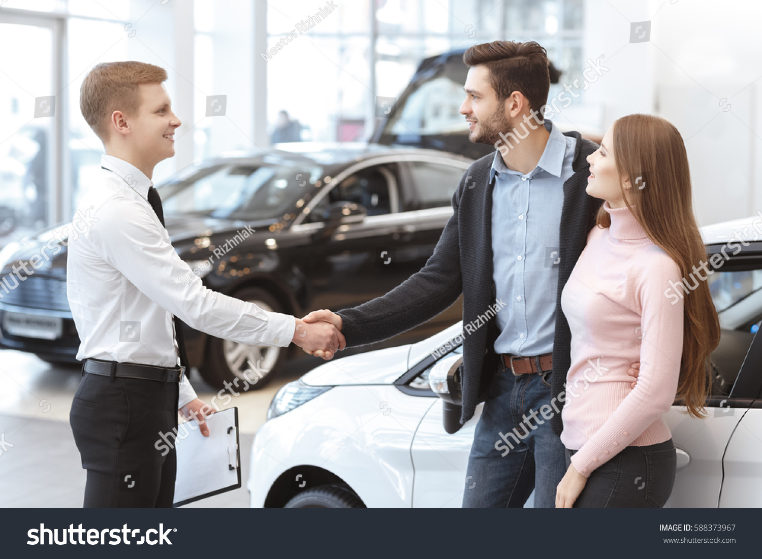 Buying A New Car Congrats Your New Car Happy Young Stock Photo Edit Now 588373967
