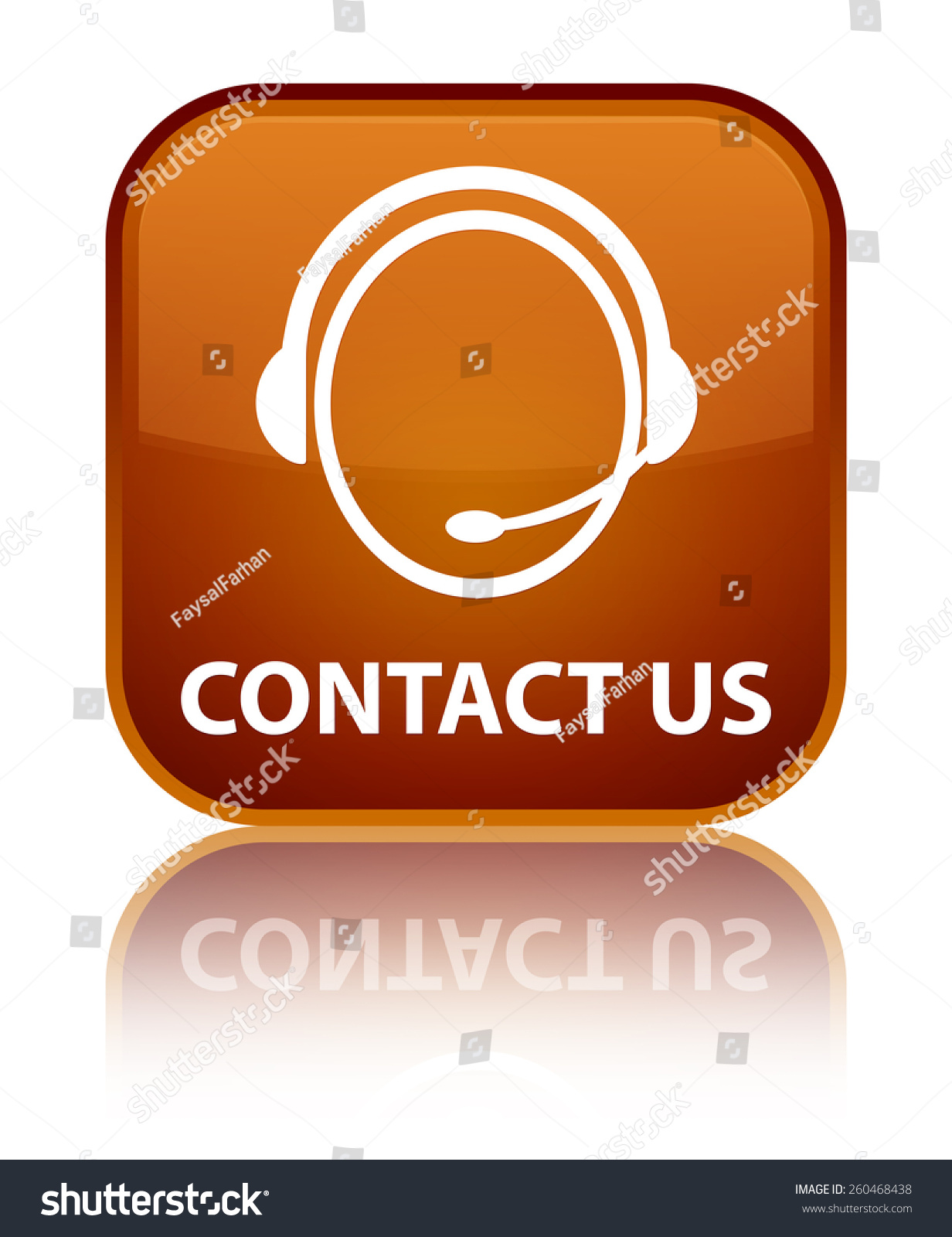 Email Icon Isolated On Special Yellow Square Button Abstract Contact Us Customer Care Icon Brown Stock Illustration