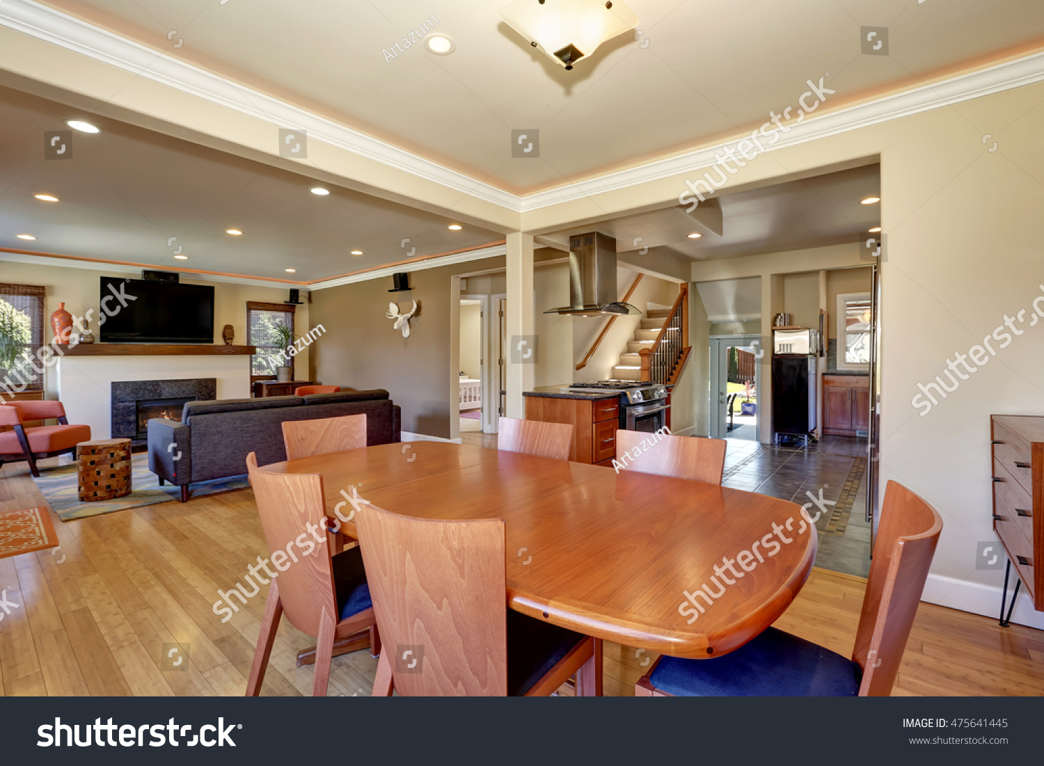 Craftsman Kitchen Dining Room Combo Soft Stock Photo Edit Now 475641445