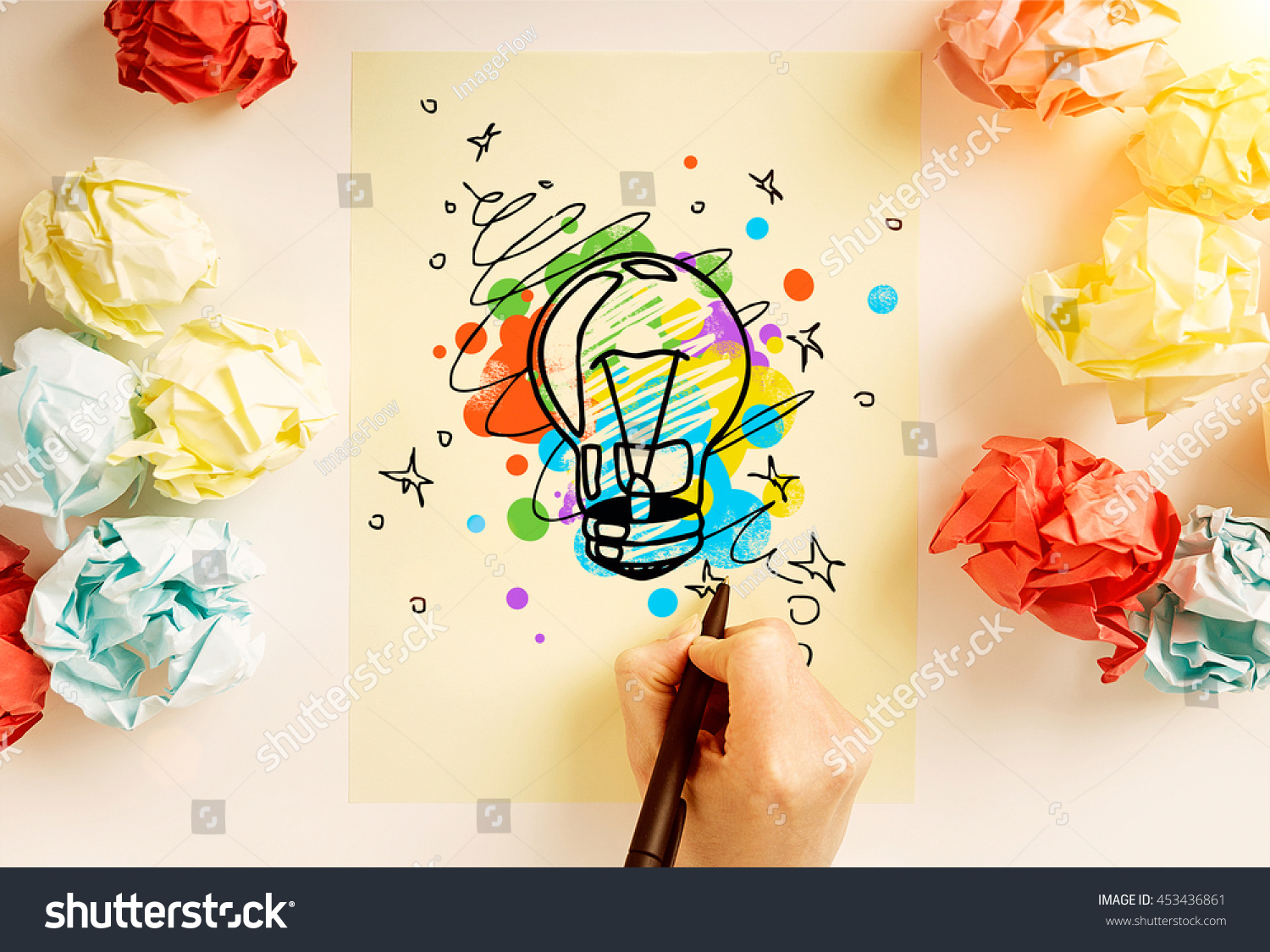 Creative Idea Creative Idea Concept Hand Drawing Abstract Stock Photo Edit Now
