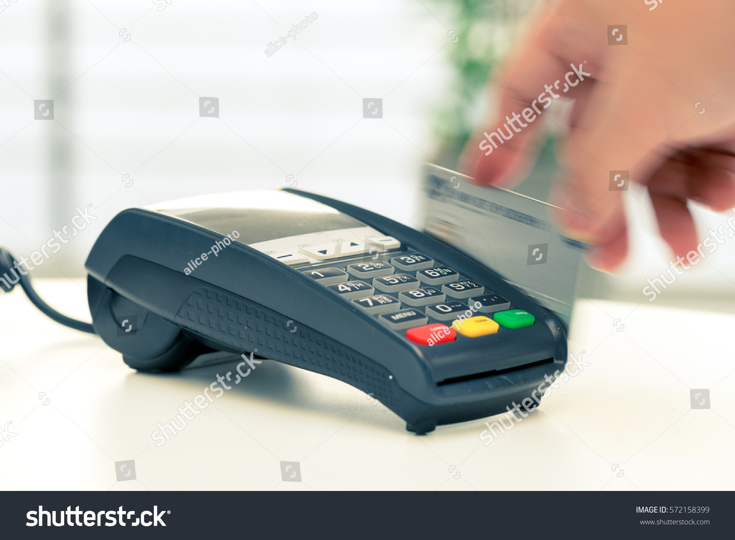 Online Shopping Mode Of Payment Credit Card Machine Payment Online Shopping Stock Photo