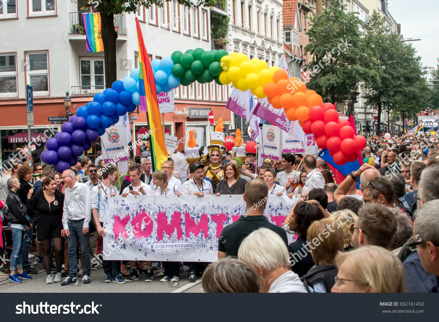 Himalaya Hamburg Csd Hamburg Christopher Street Day Hamburg Stock Photo Edit Now