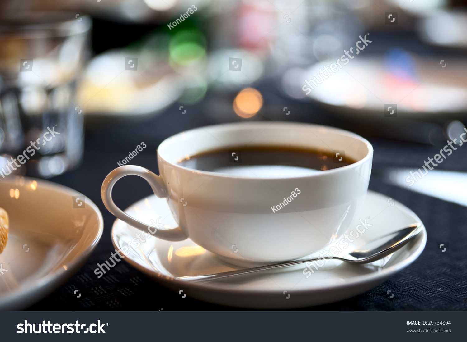 Americano Coffee English Cup Of Americano Coffee Shallow Focus Stock Photo