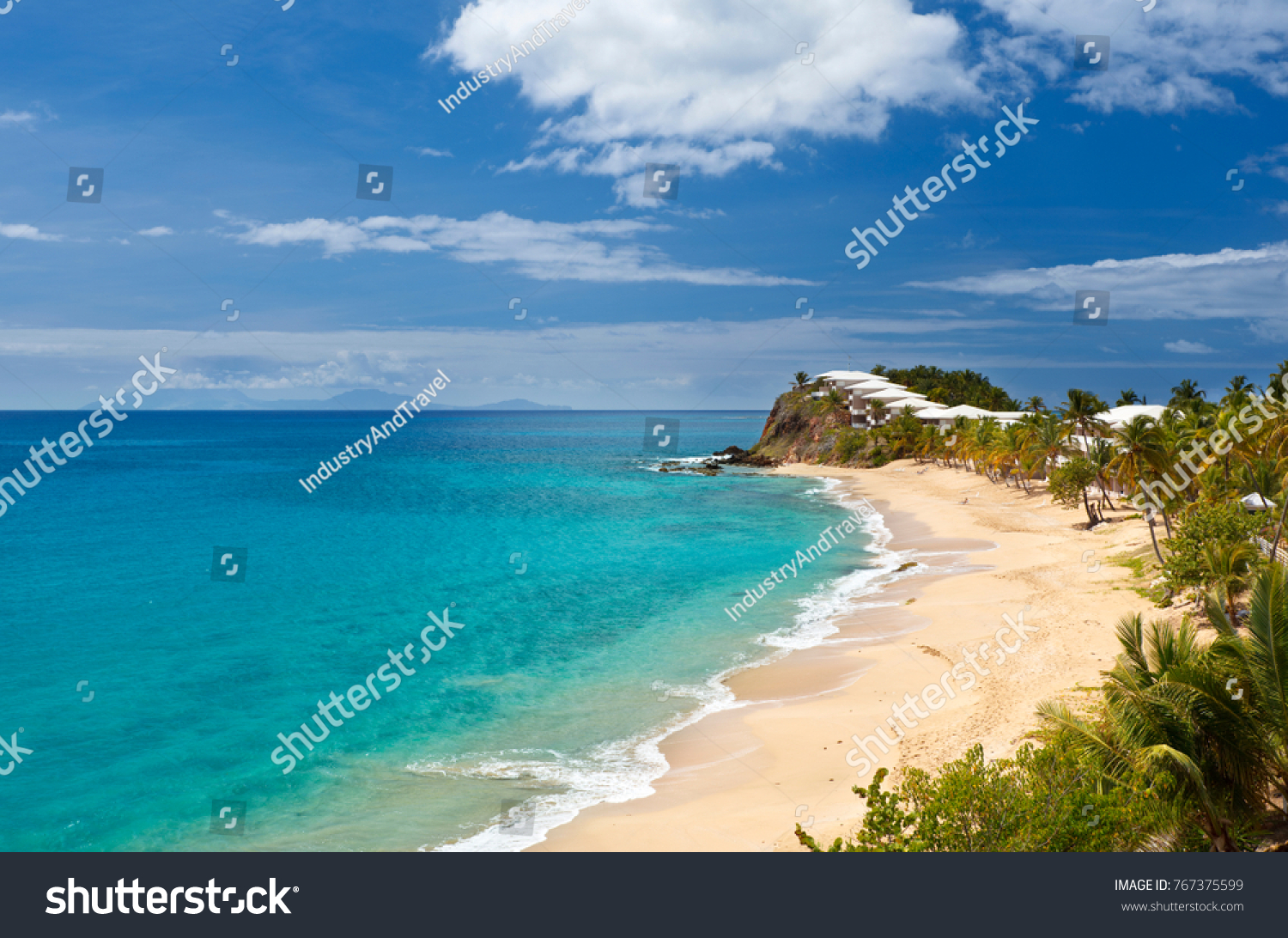 Antigua Curtain Bluff Curtain Bluff Beach Resort Antigua On Stock Photo Edit Now