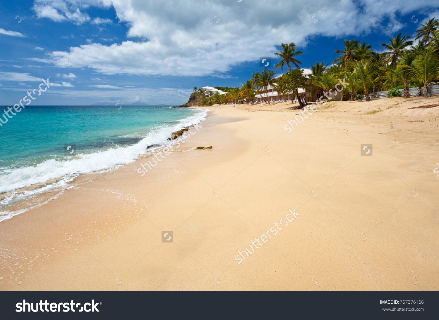 Antigua Curtain Bluff Curtain Bluff Beach Antigua One Few Stock Photo Edit Now