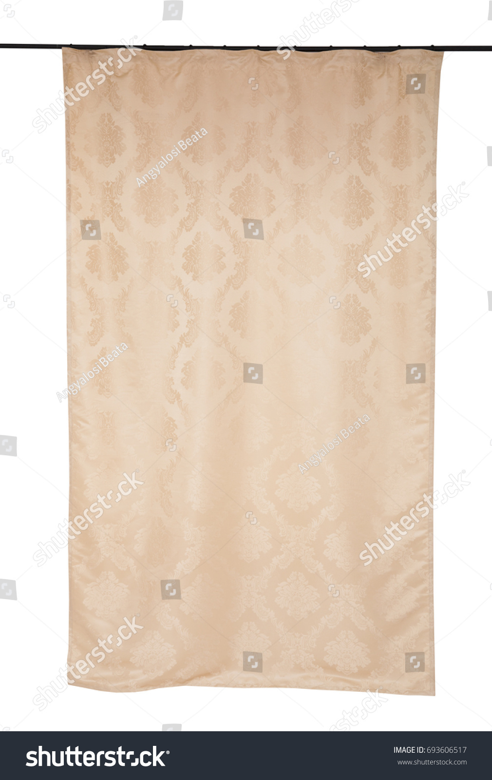 Simulation Décoration Curtain On Window Home Decoration Interior Stock Photo Edit Now