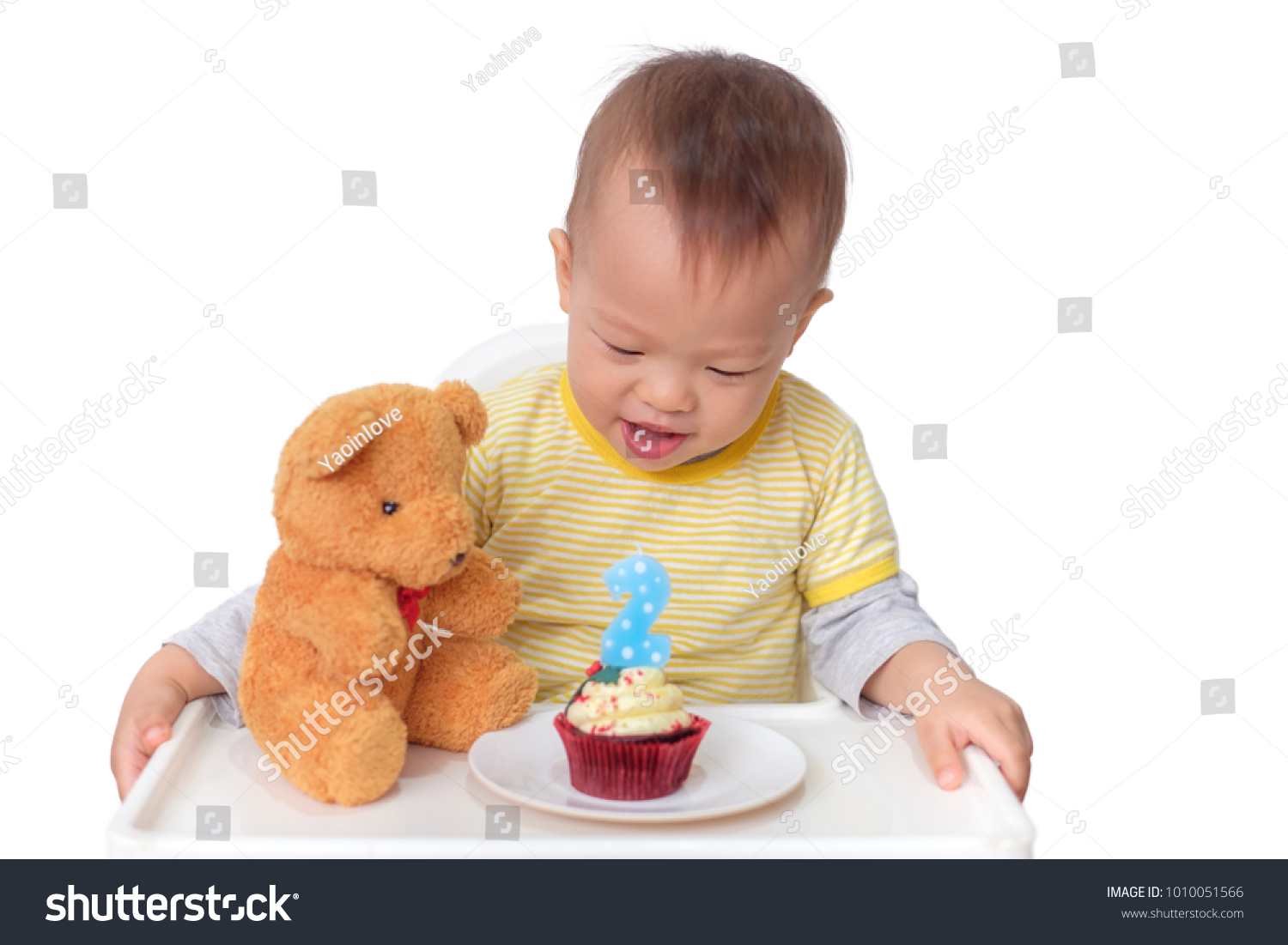 Toddler 2 Years Old Birthday Cute Little Asian 2 Years Old Stock Image Download Now