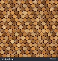 Decorative Pattern Of Wine Bottles Corks - Seamless ...